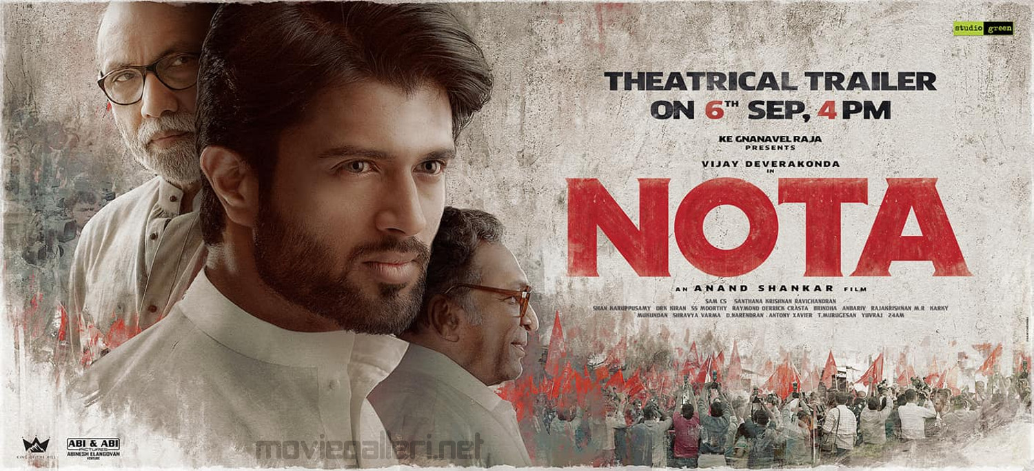 Vijay Devarakonda Nota Movie Trailer Release on Sep 6th Poster