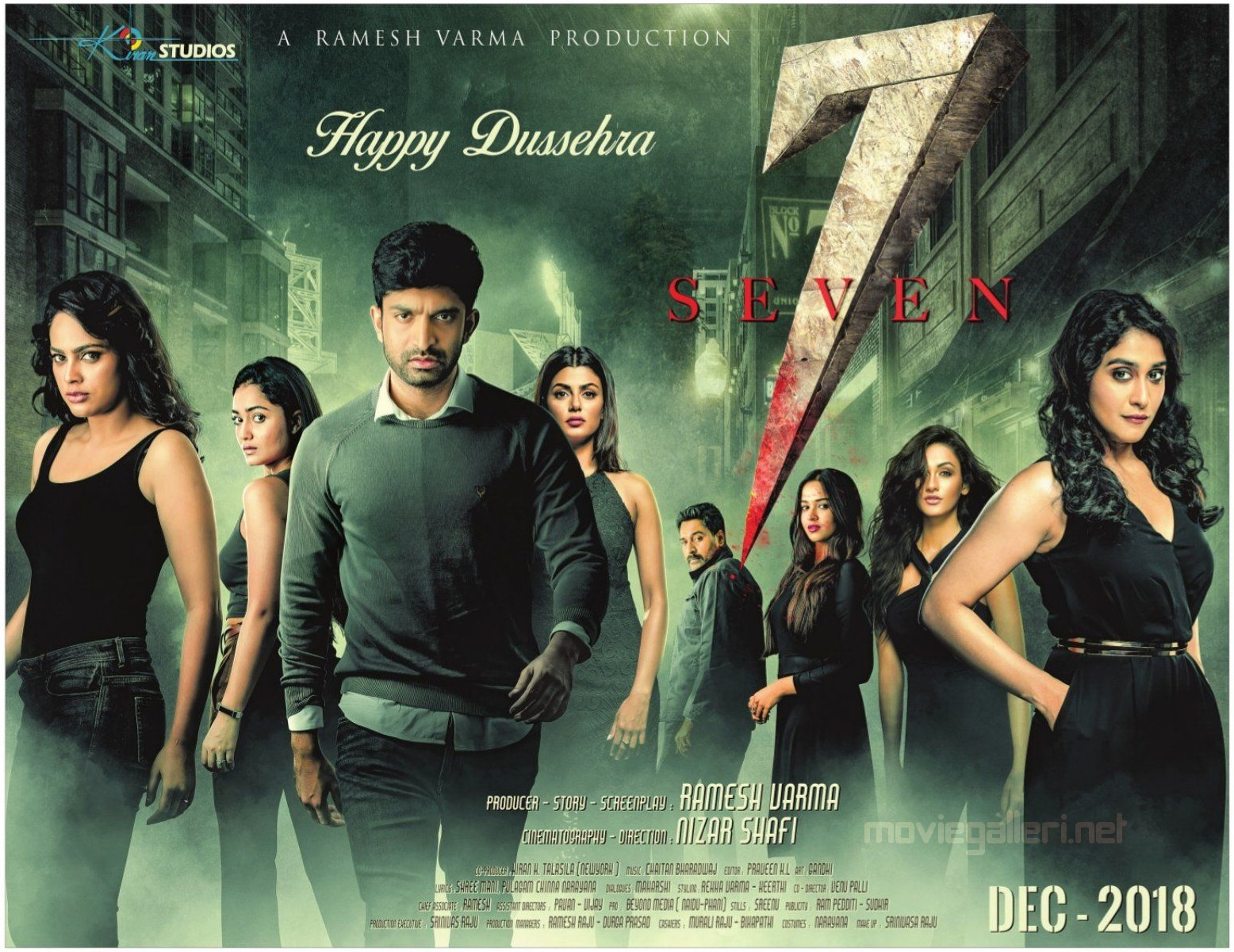 7 Seven Movie Dussehra Wishes Poster HD