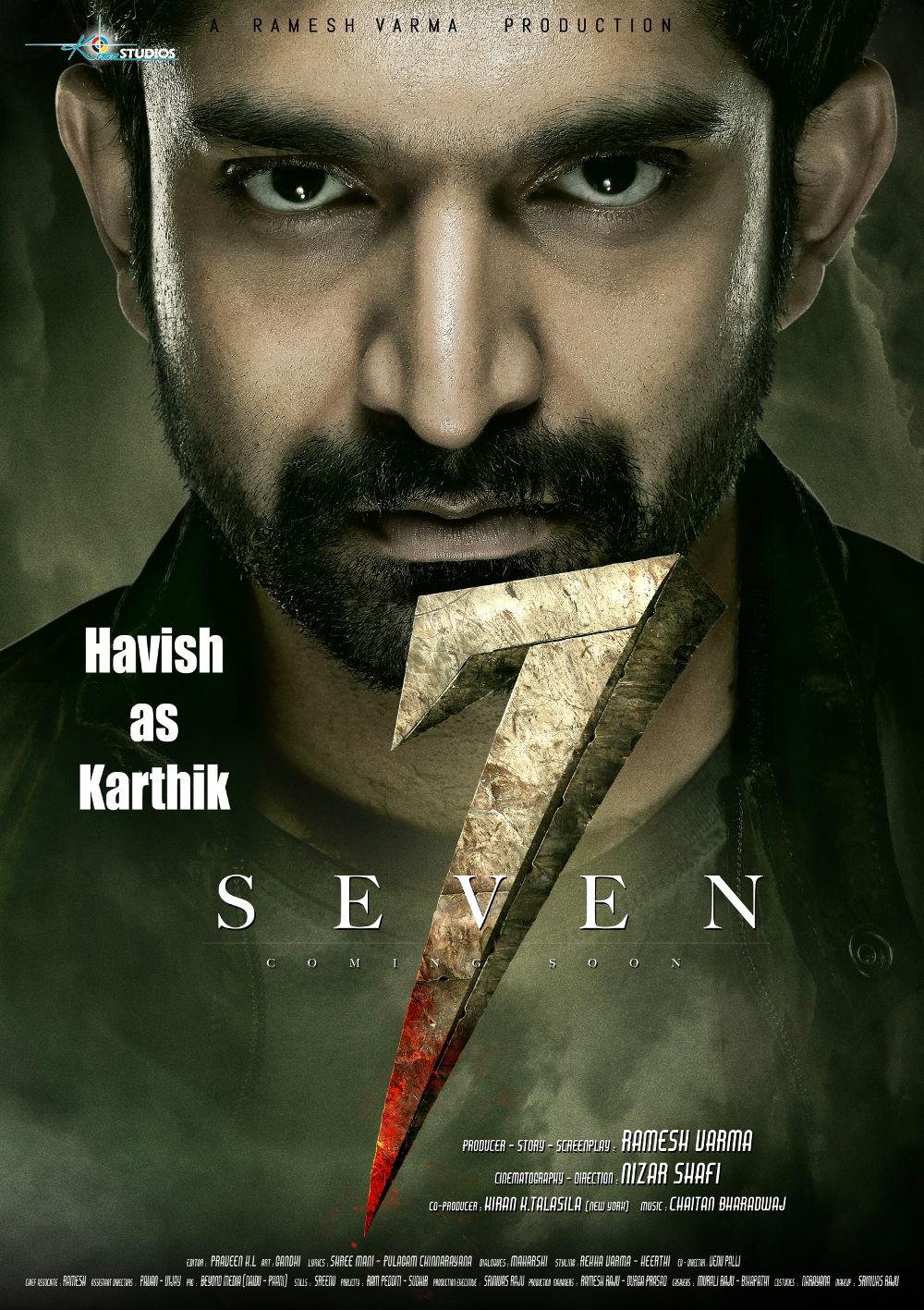 Actor Havish as Karthik in 7 Seven Movie First Look Poster