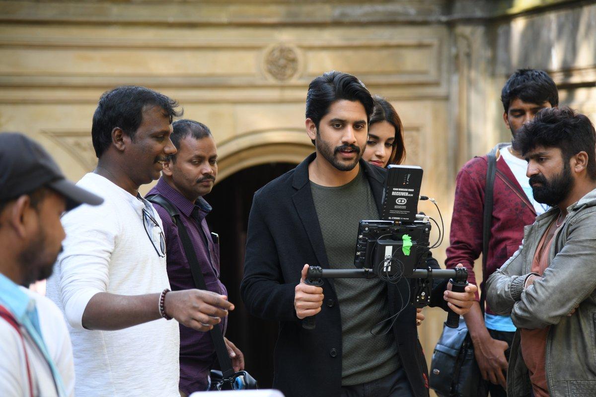 Actor Naga Chaitanya @ Savyasachi Movie Why Not Song Working Stills