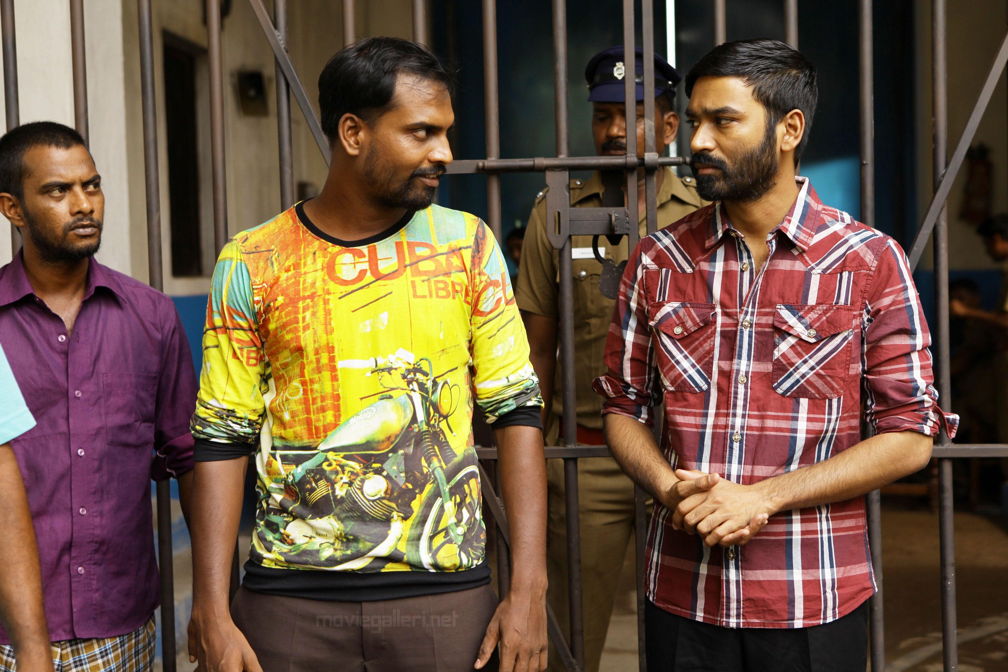 Actor Pavel Navageethan & Dhanush @ Vada Chennai Movie