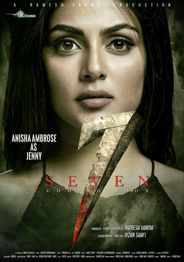 Actress Anisha Ambrose as Jenny in 7 Seven Movie Poster