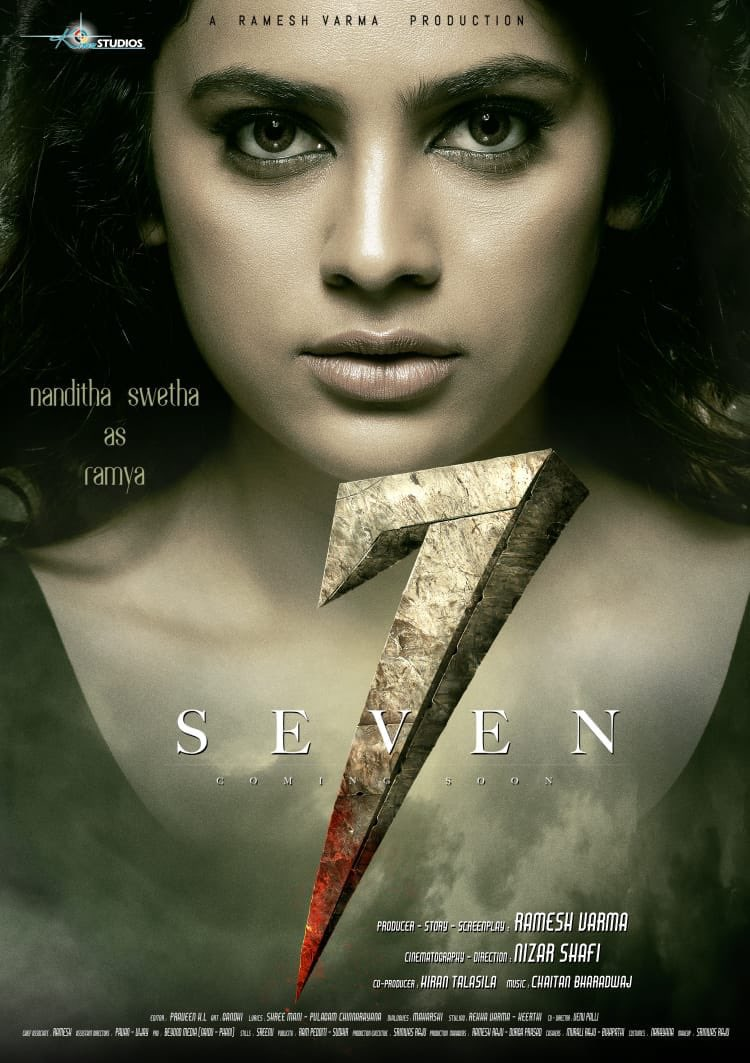 Actress Nandita Swetha as Ramya in 7 Seven Movie First Look Poster