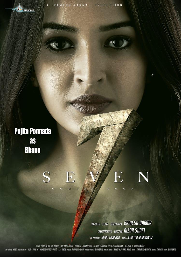 Actress Pujita Ponnada as Bhanu 7 Seven Movie First Look Poster