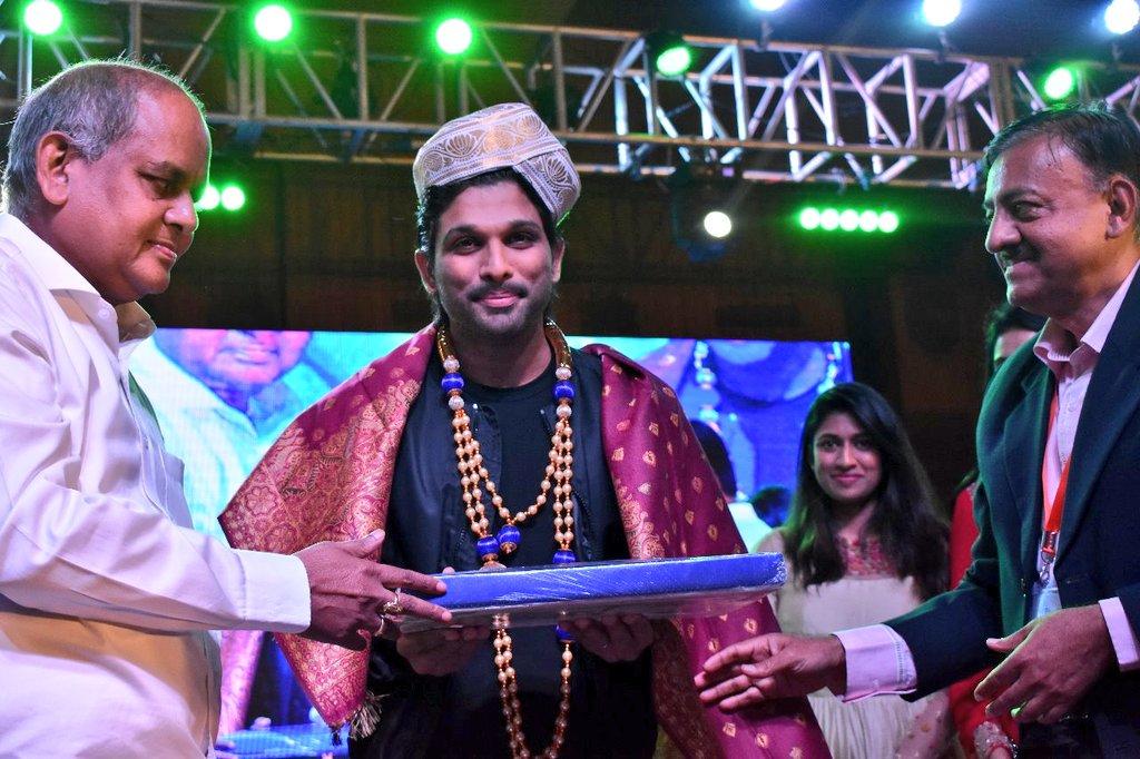Allu Arjun Felicitated @ IKYA FIESTA 2018