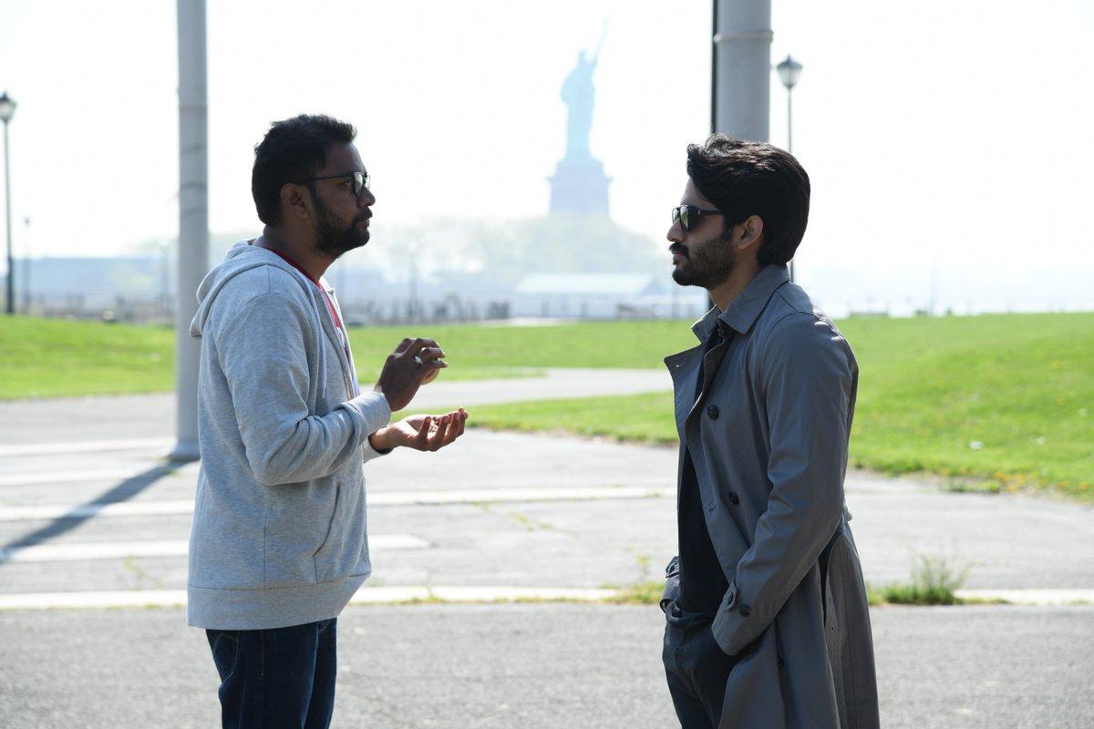 Chandoo Mondeti, Naga Chaitanya @ Savyasachi Movie Why Not Song Working Stills