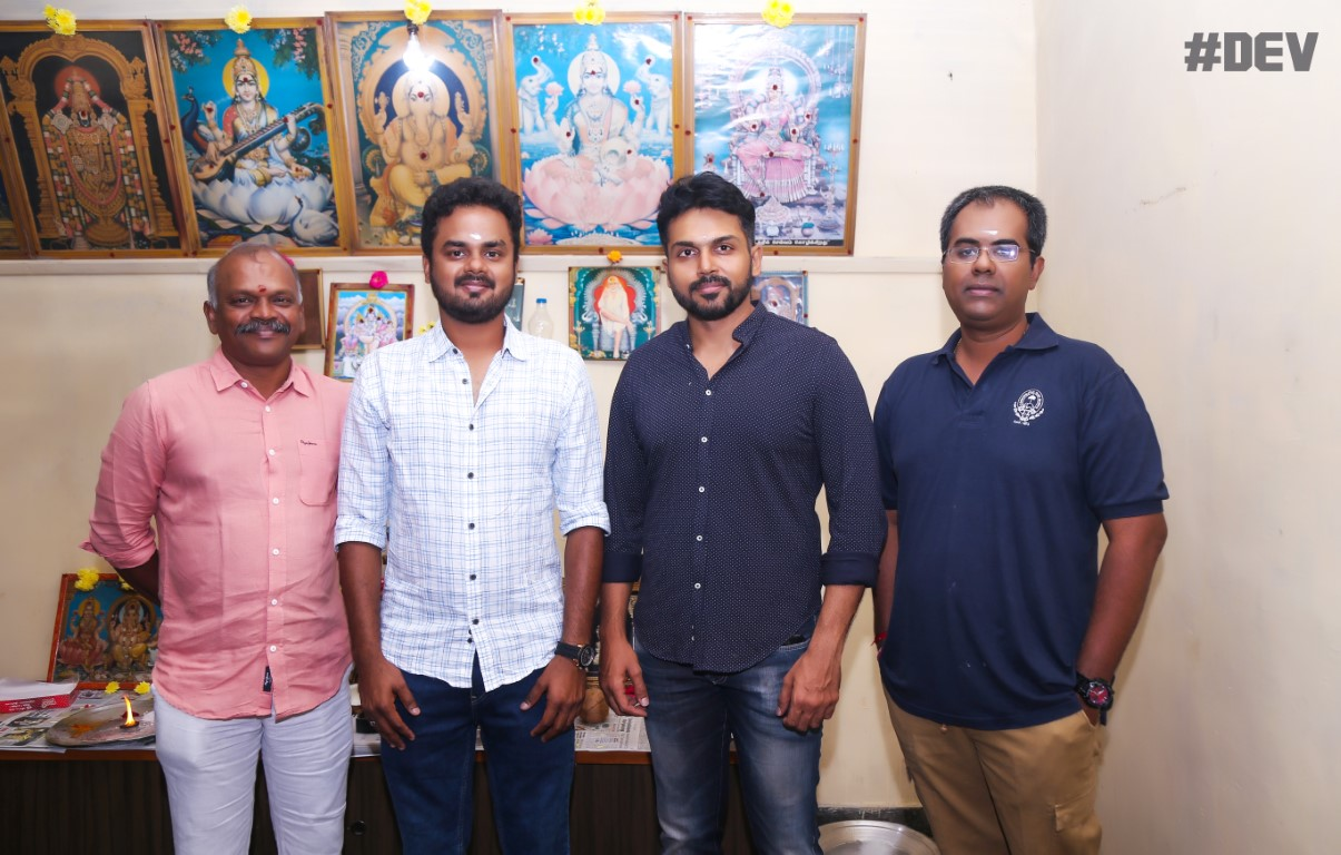 Hero Karthi starts Dev Movie Dubbing