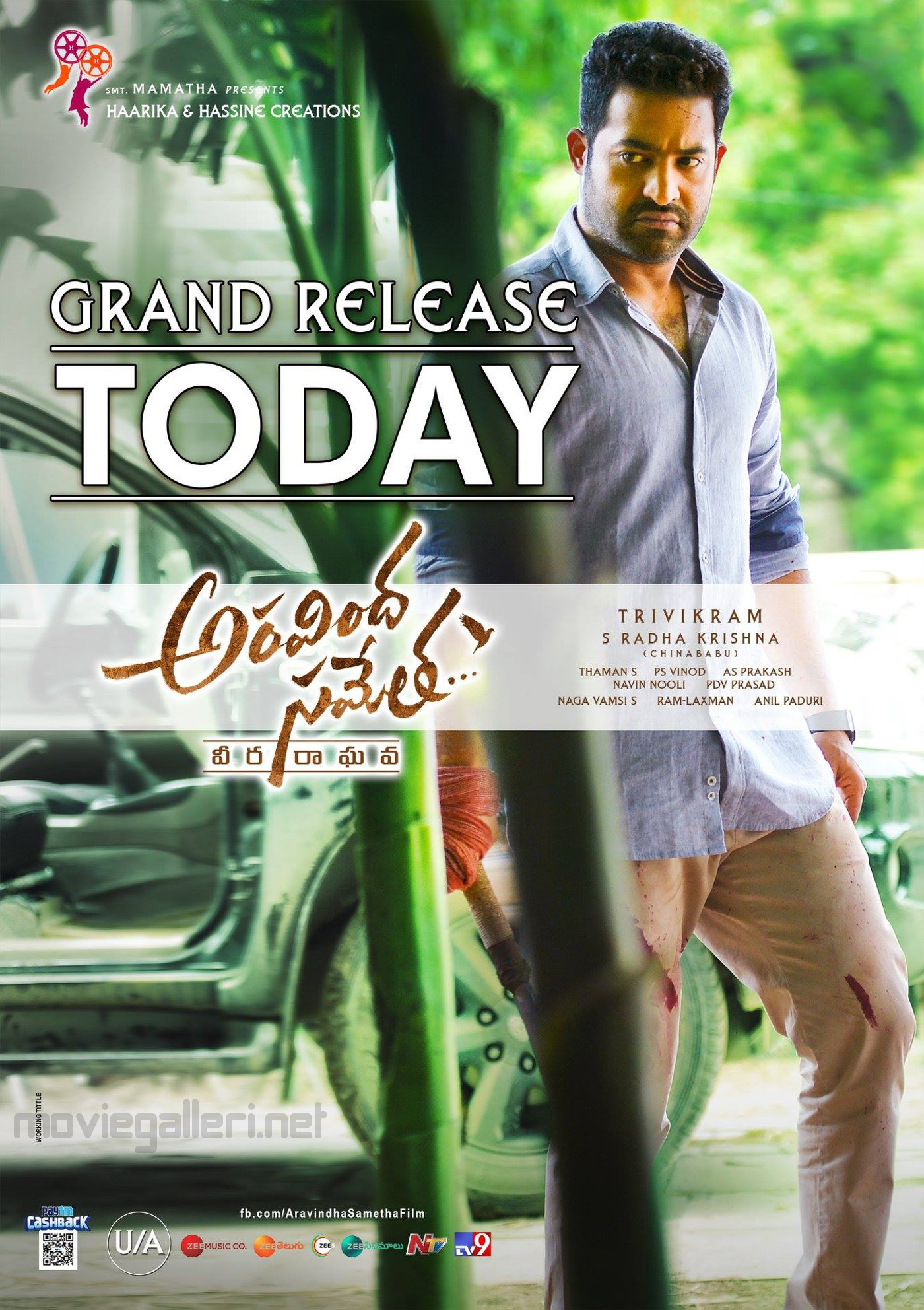 Jr NTR Aravindha Sametha Grand Release Today Posters HD