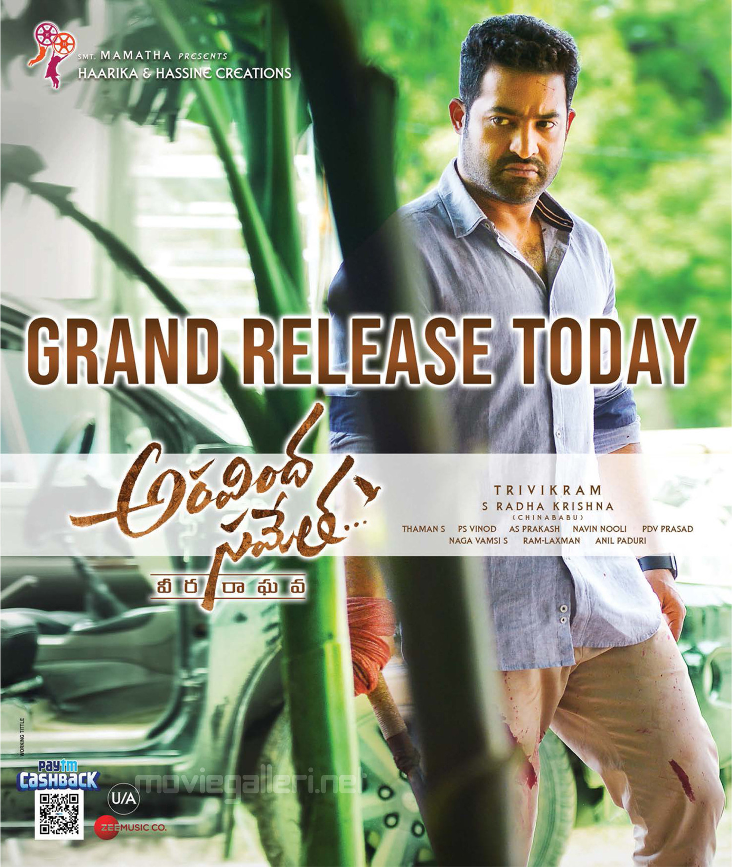 Jr NTR Aravindha Sametha Movie Release Today Posters HD