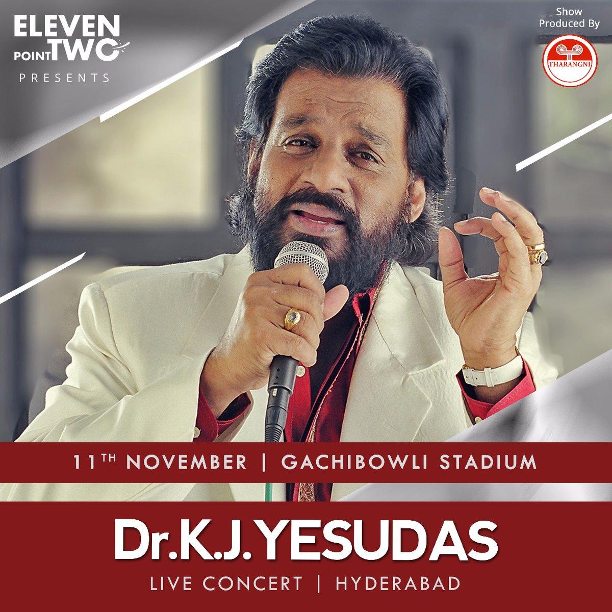 KJ Yesudas live concert hyderabad on 11th November