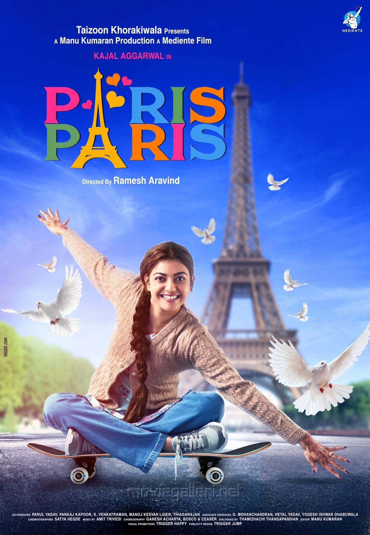 Kajal Aggarwal Paris Paris First Look Posters HD