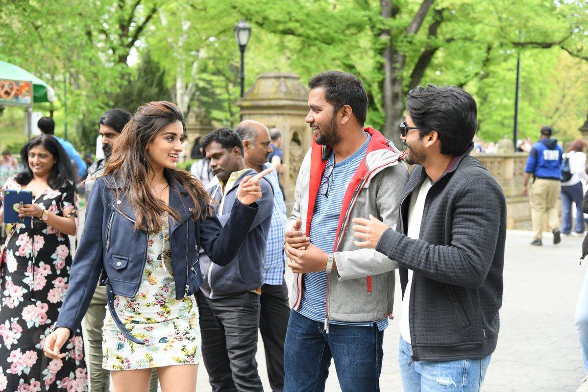 Nidhhi Agarwal, Chandoo Mondeti, Naga Chaitanya @ Savyasachi Movie Why Not Song Working Stills
