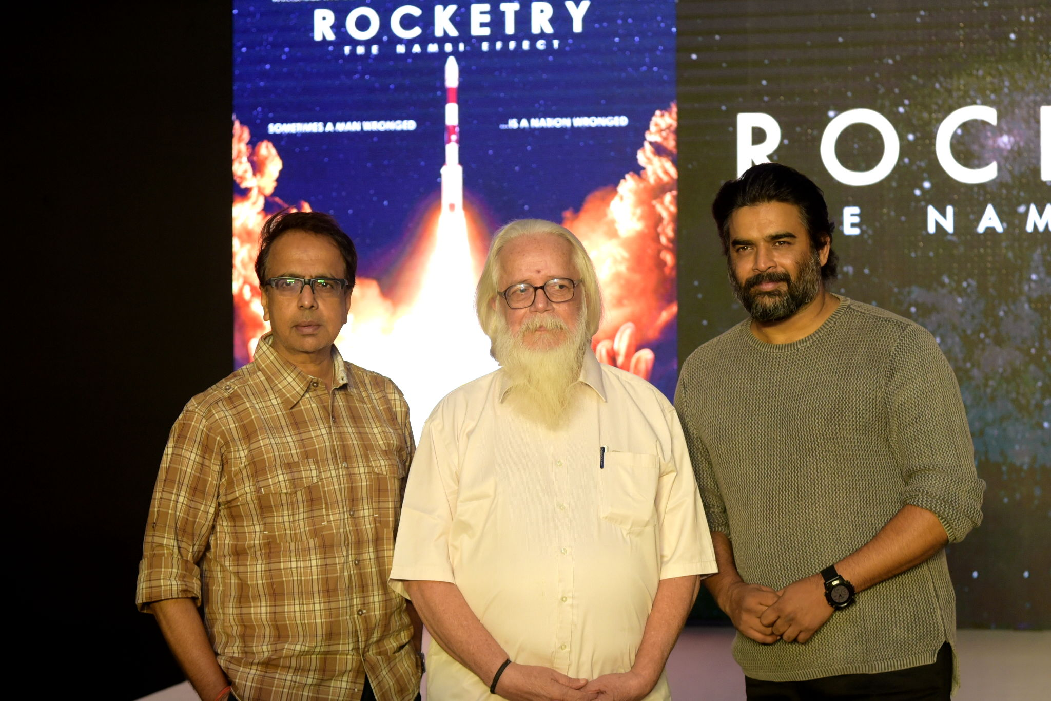 R Madhavan, Ananth Mahadevan & Nambi Narayanan launch the teaser of 'Rocketry - The Nambi Effect'!