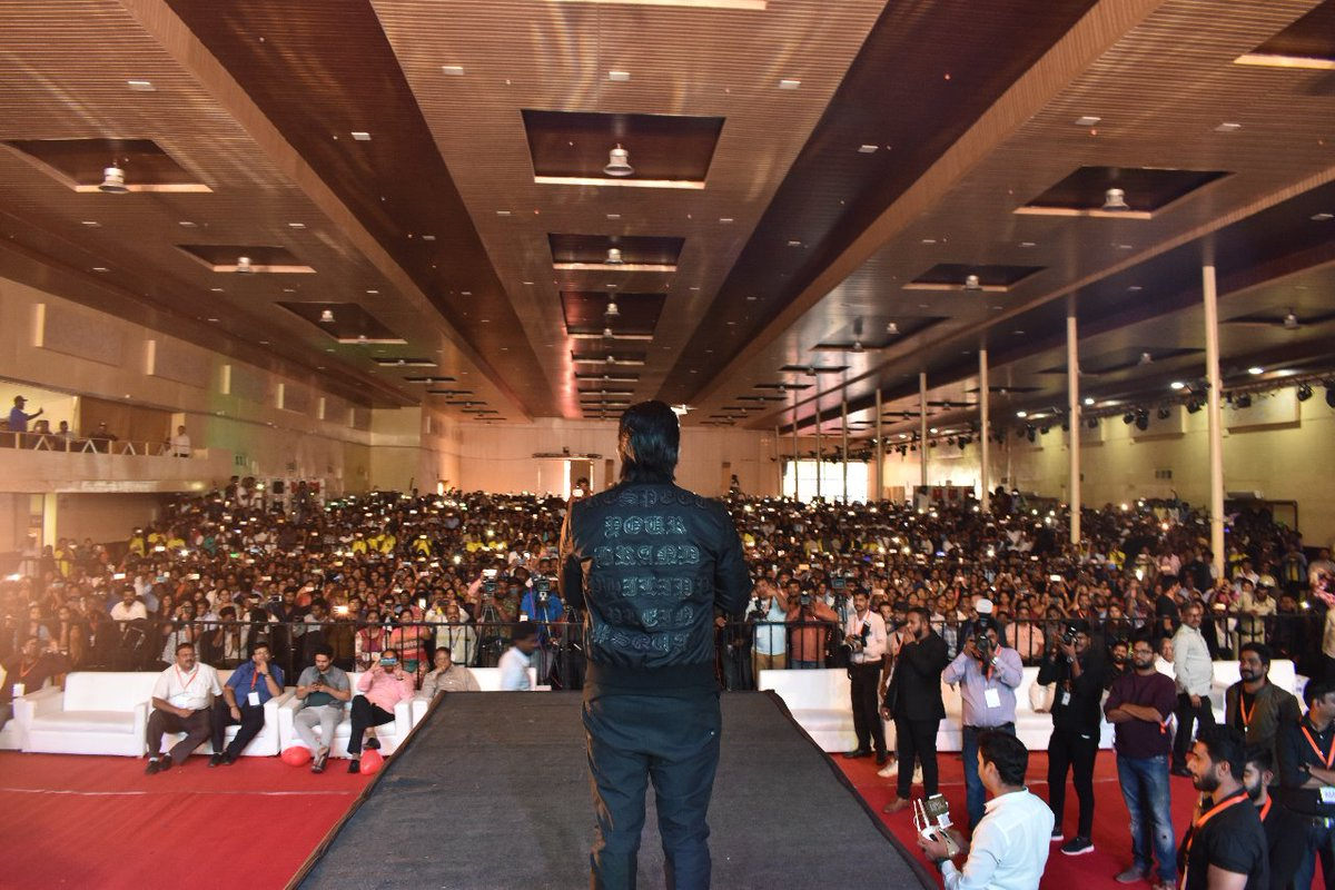 Stylishstar Allu Arjun at Nagarjuna College of Engineering's IKYA FIESTA2018 in Bangalore