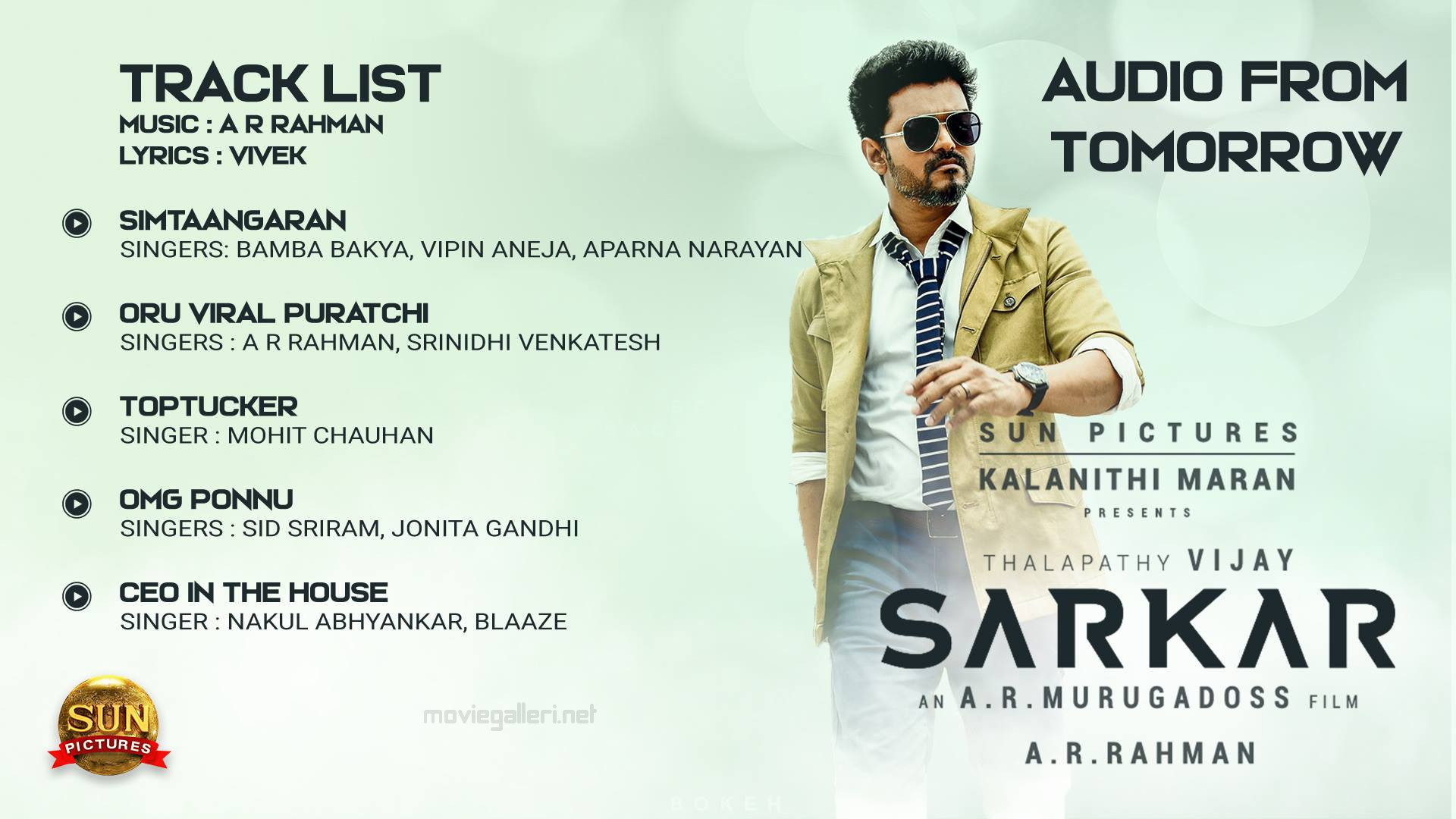 Vijay Sarkar Audio Song Tracklist Photo HD