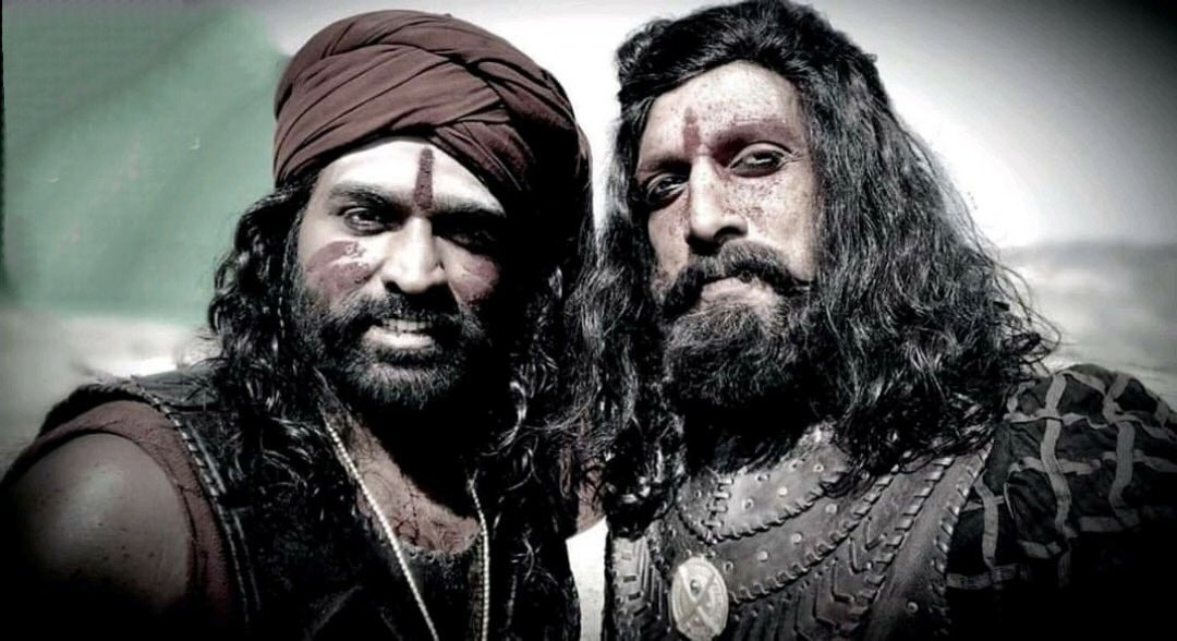 Vijay Sethupathi is Obayya & Kiccha Sudeep From the sets of Sye Raa Narasimha Reddy