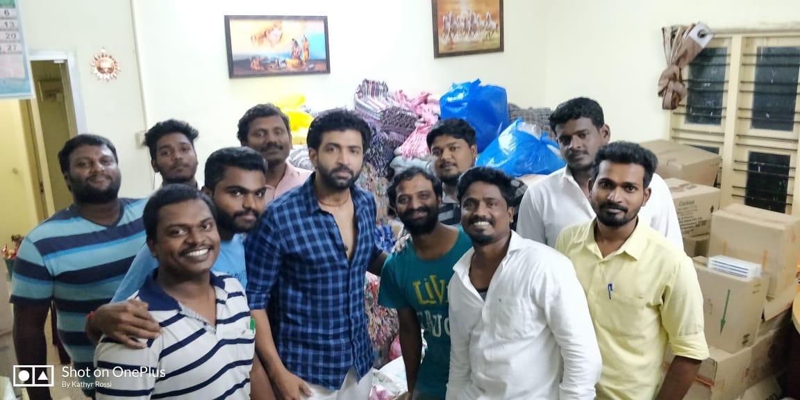 Actor Arun Vijay visited Gaja affected areas
