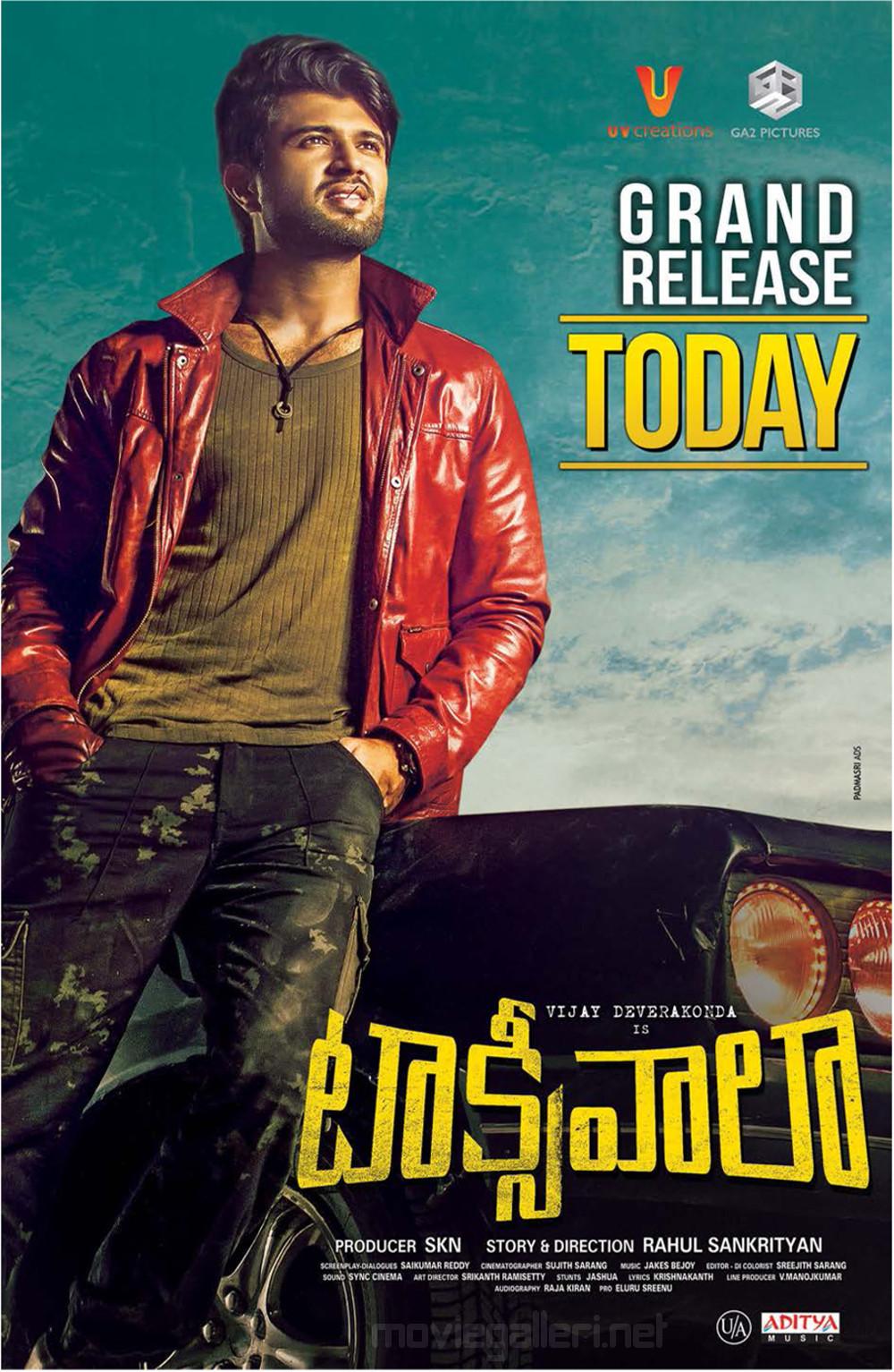 Actor Vijay Devarakonda Taxiwala Movie Release Today Posters