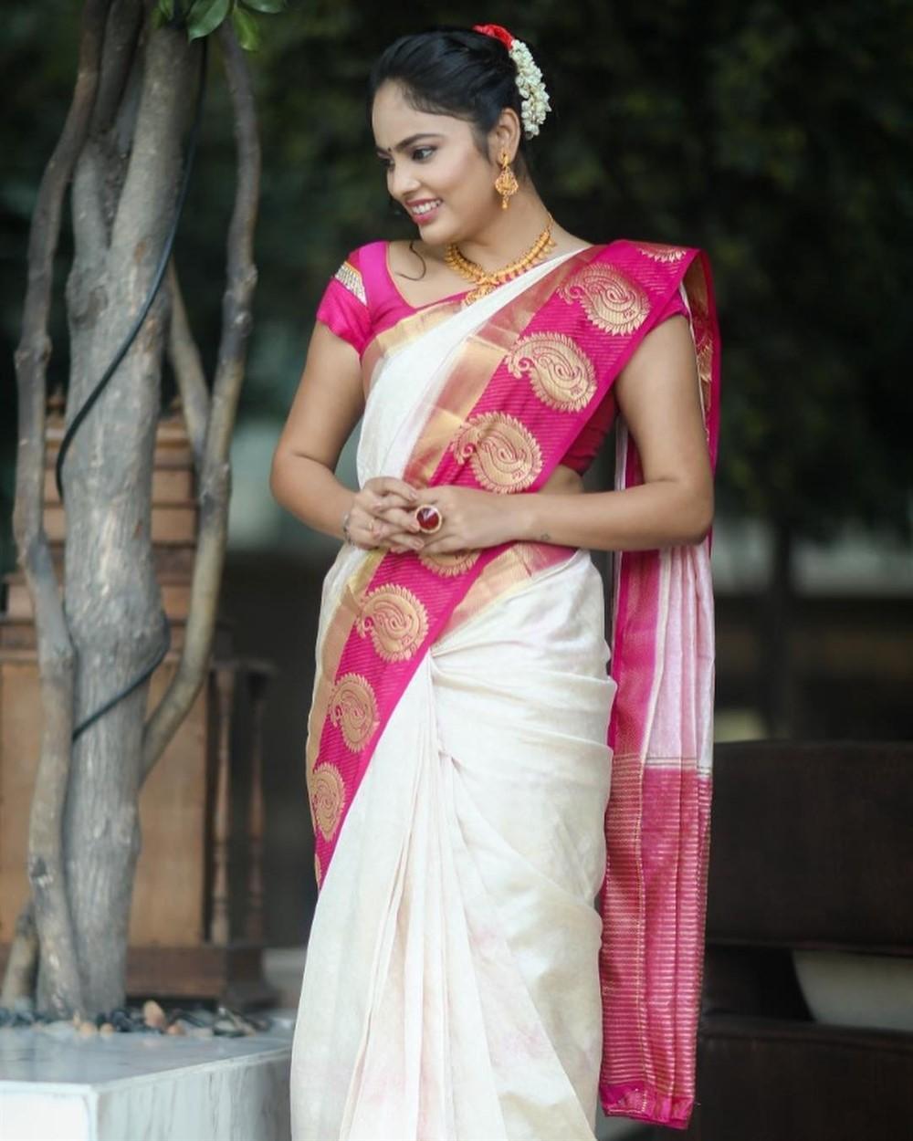 Actress Nandita Swetha Traditional Saree Pics