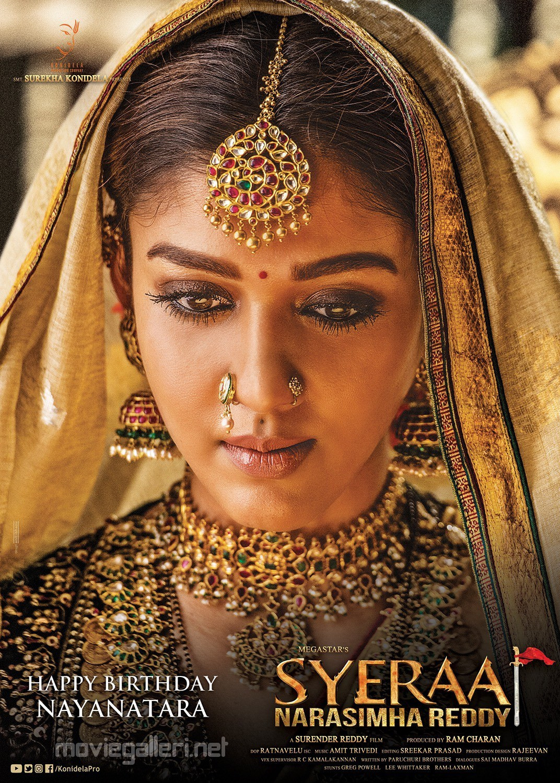 Actress Nayanthara as Siddhamma in Sye Raa Narasimha Reddy Movie Poster HD