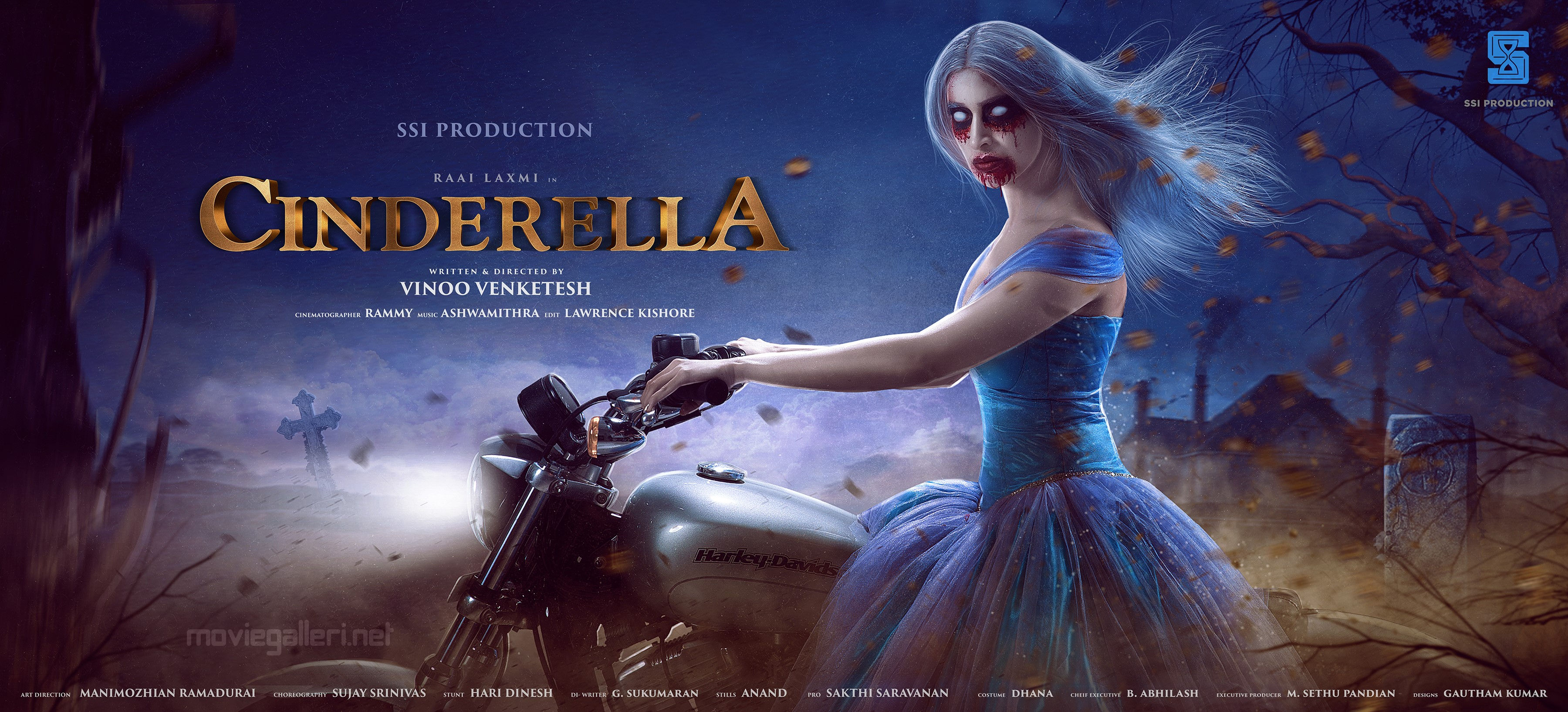 Actress Raai Laxmi in Cinderella Movie First Look Wallpaper HD