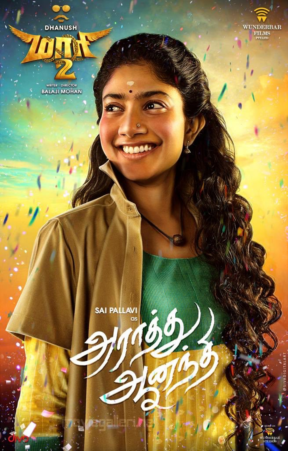 Maari 2 Movie Actress Sai Pallavi First Look Posters