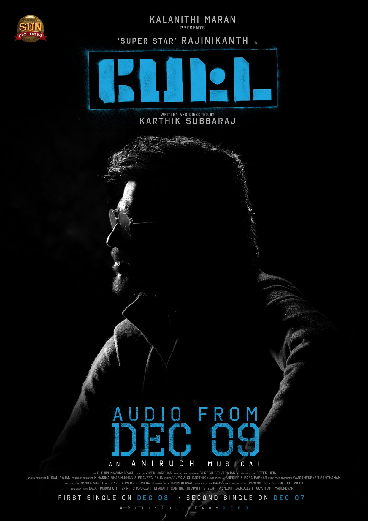 Rajinikanth Petta Audio from Dec 9th Poster HD