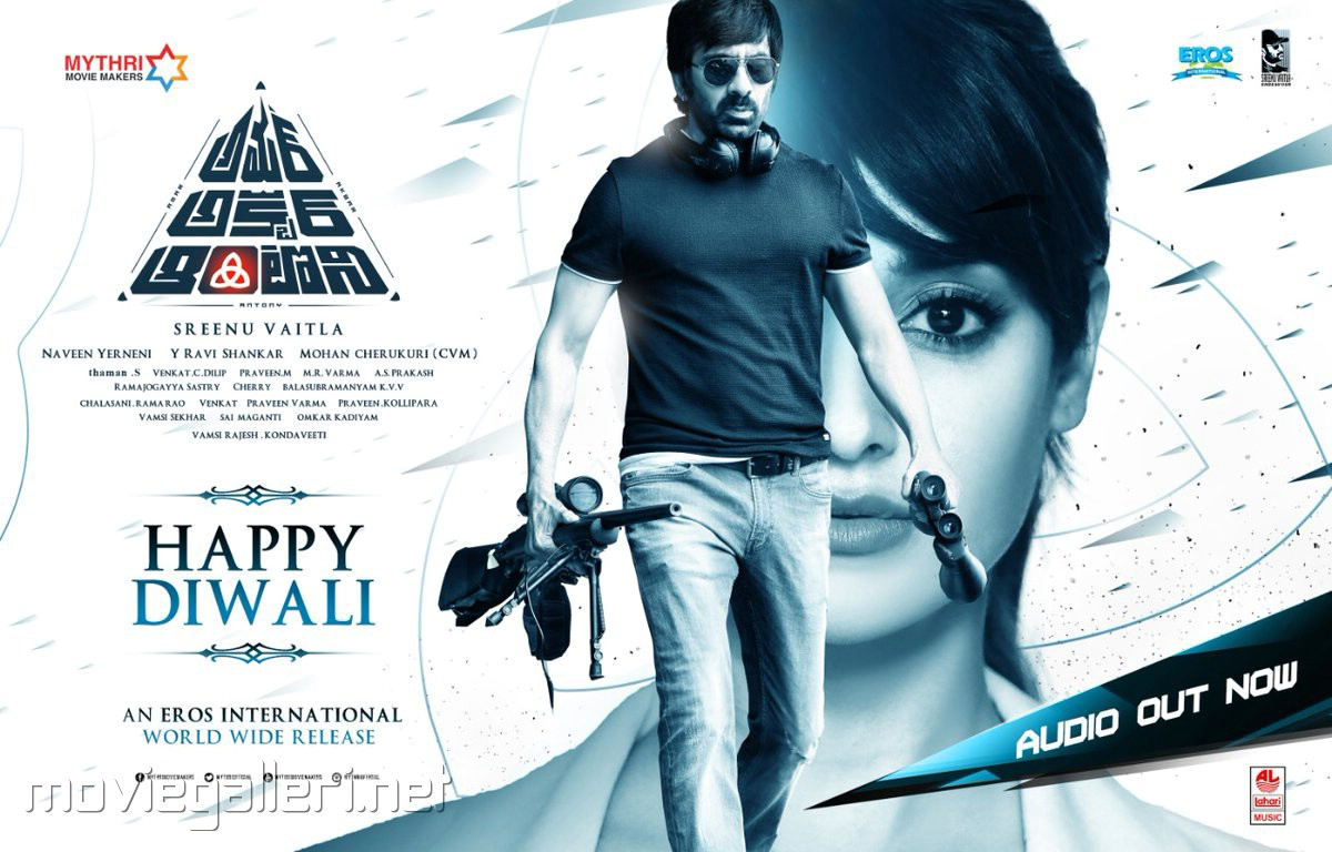 Ravi Teja Ileana Amar Akbar Anthony Movie Diwali Wishes Poster HD
