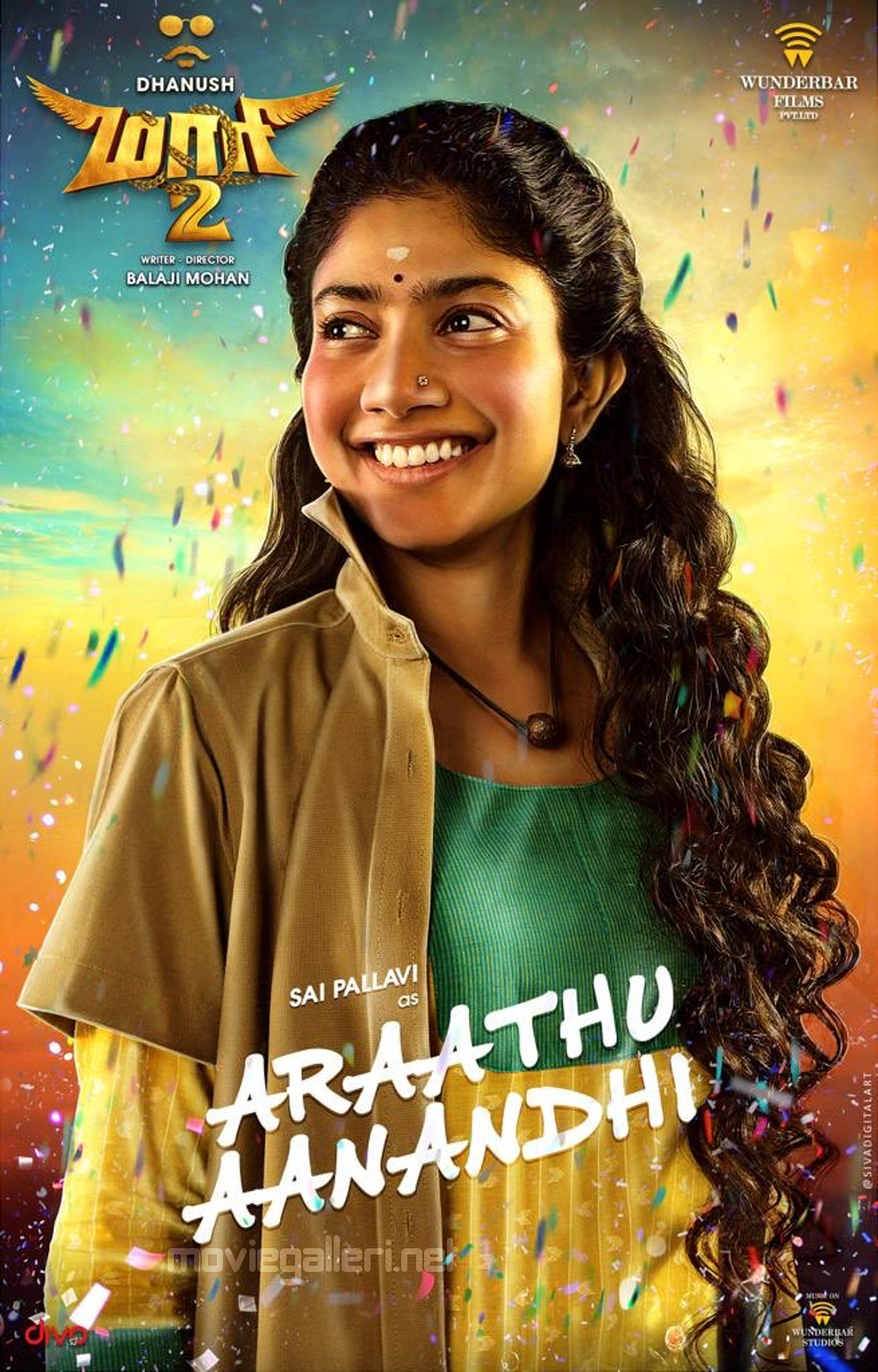 Sai Pallavi as Araathu Aanandhi in Maari 2 Movie Posters