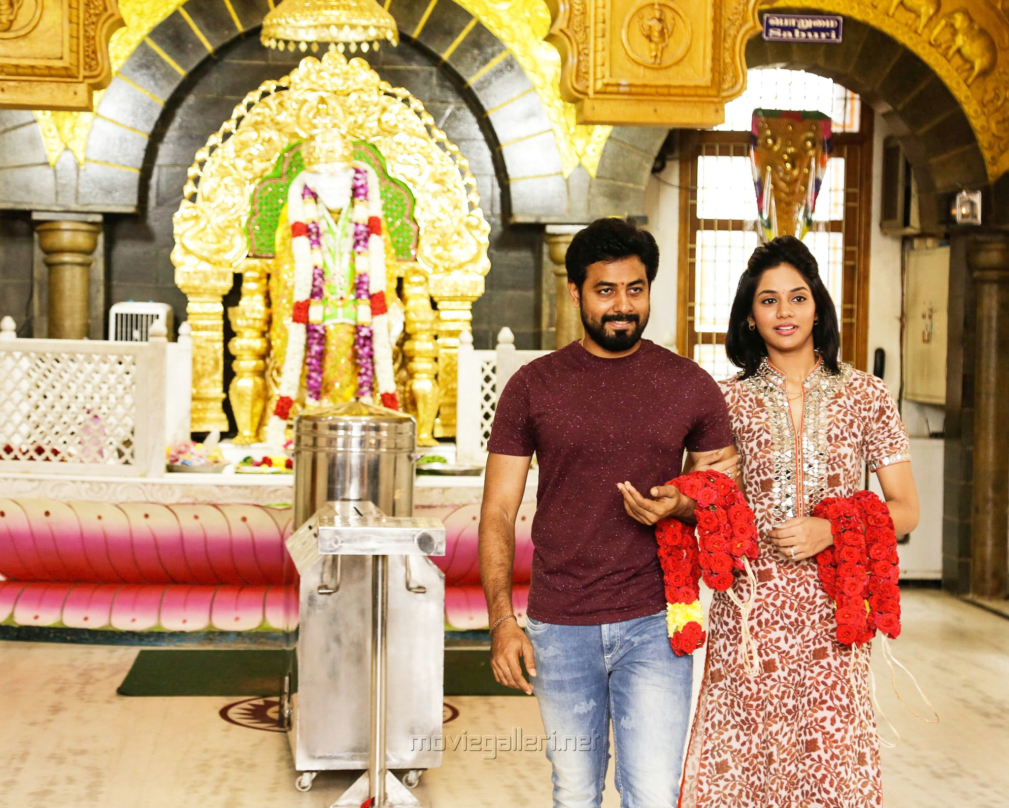 Aari Aishwarya Dutta Movie Pooja Stills