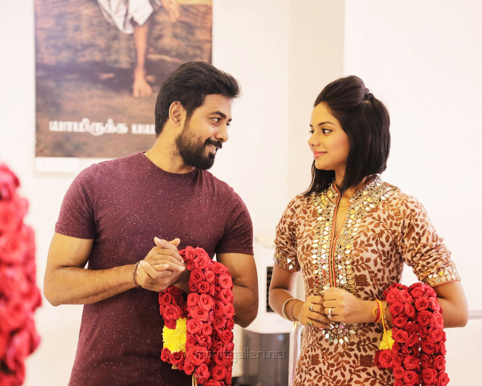Actor Aari & Actress Aishwarya Dutta Movie Pooja Stills