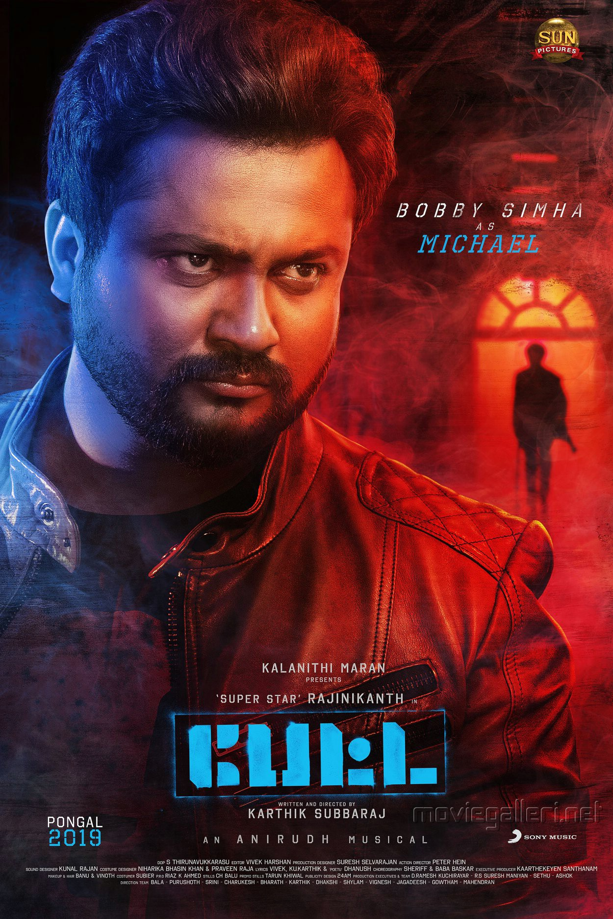 Actor Bobby Simha as Michael in Petta Movie Character Poster