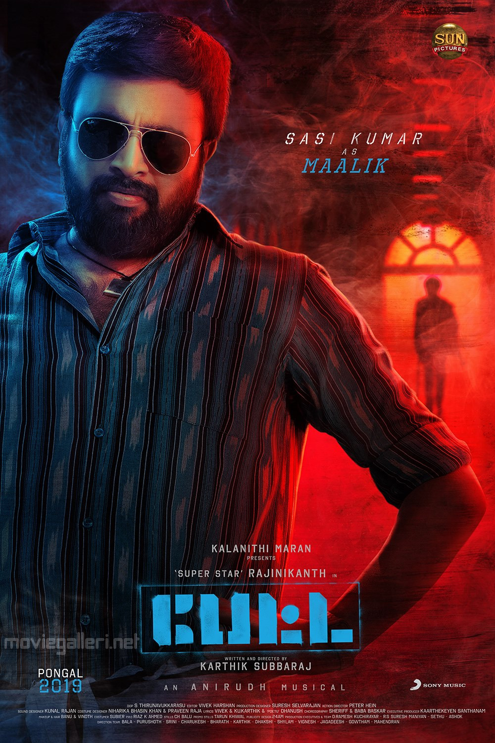 Actor M.Sasikumar as Maalik in Petta Movie Character Poster