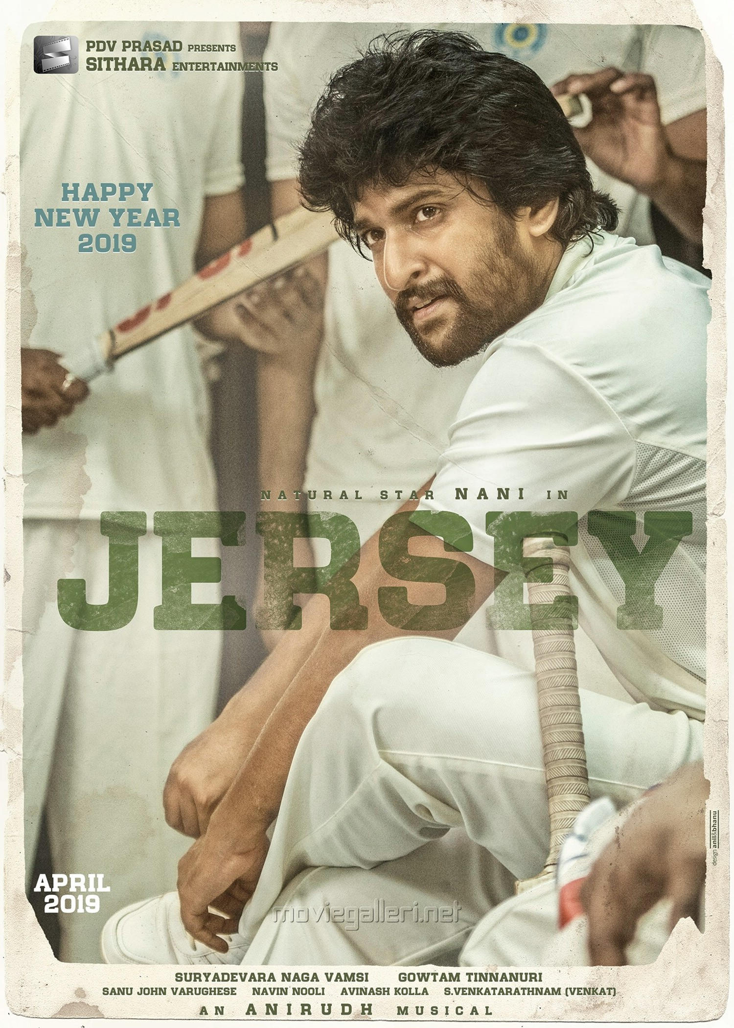 Actor Nani Jersey First Look Poster HD