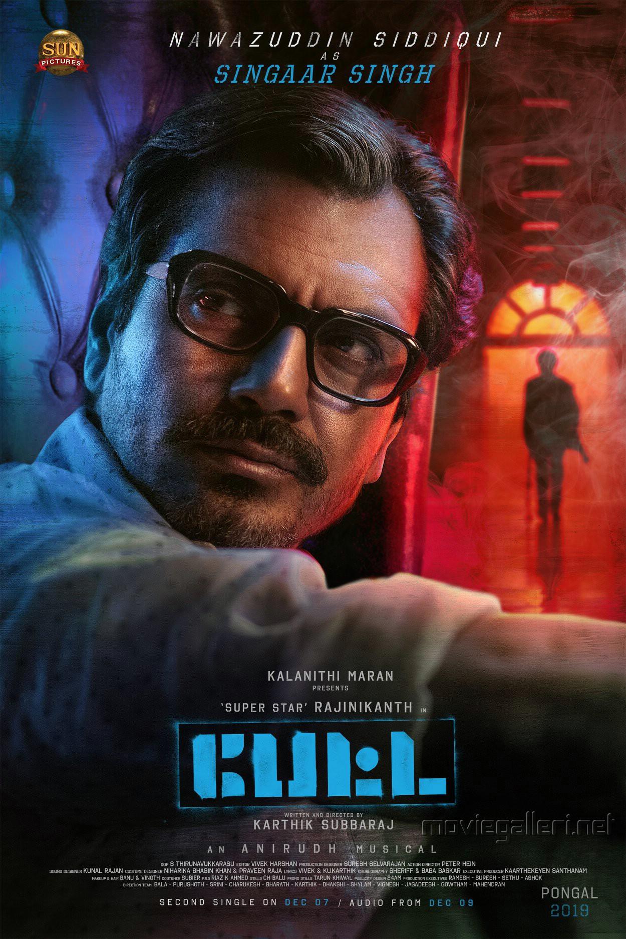 Actor Nawazuddin Siddiqui as Singaar Singh in Petta Movie Poster HD