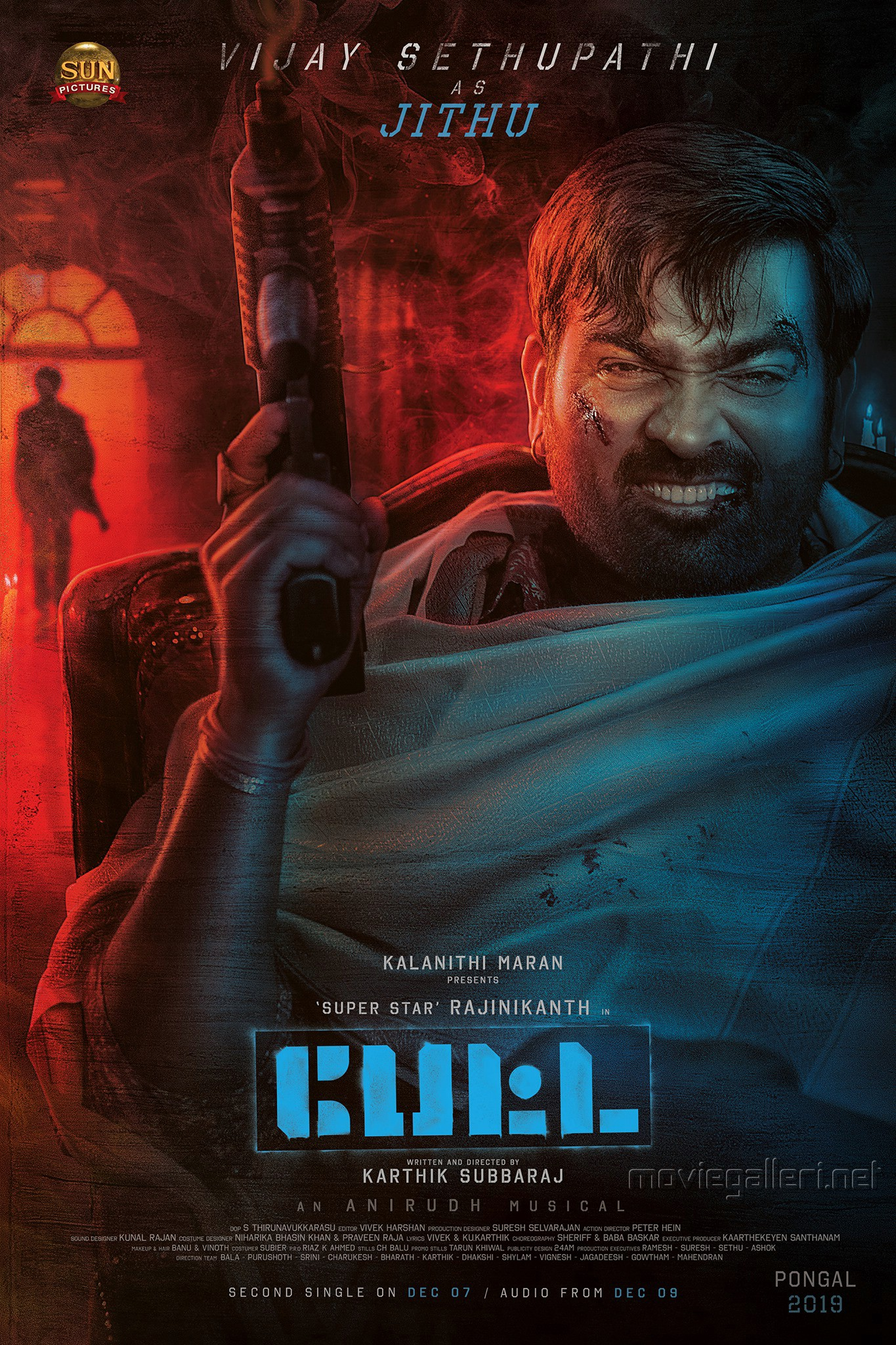 Actor Vijay Sethupathi as Jithu in Petta Movie Poster HD