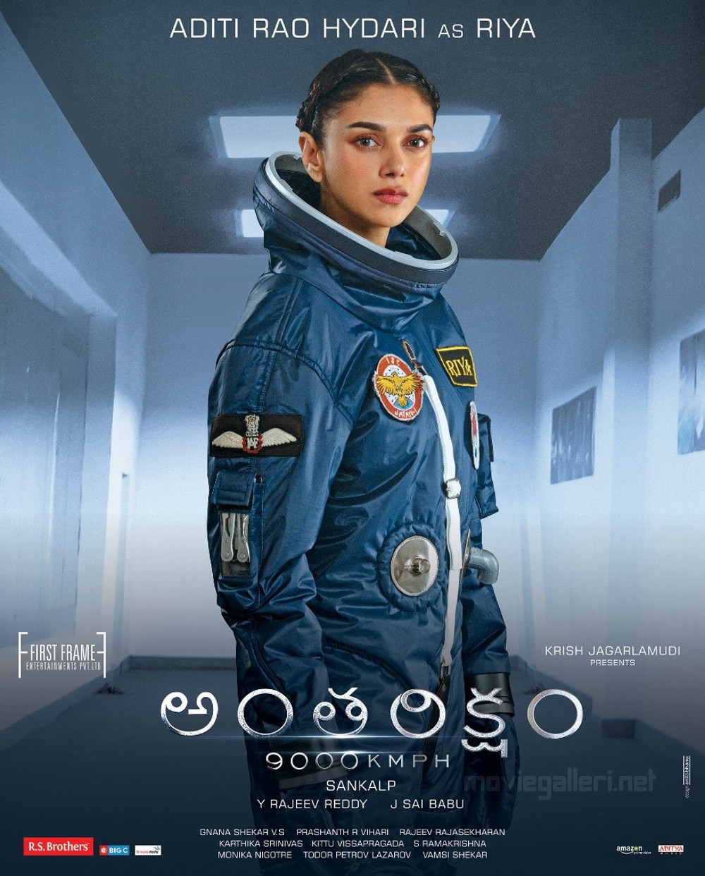 Actress Aditi Rao Hydari as Riya in Antariksham 9000 KMPH Movie Poster HD
