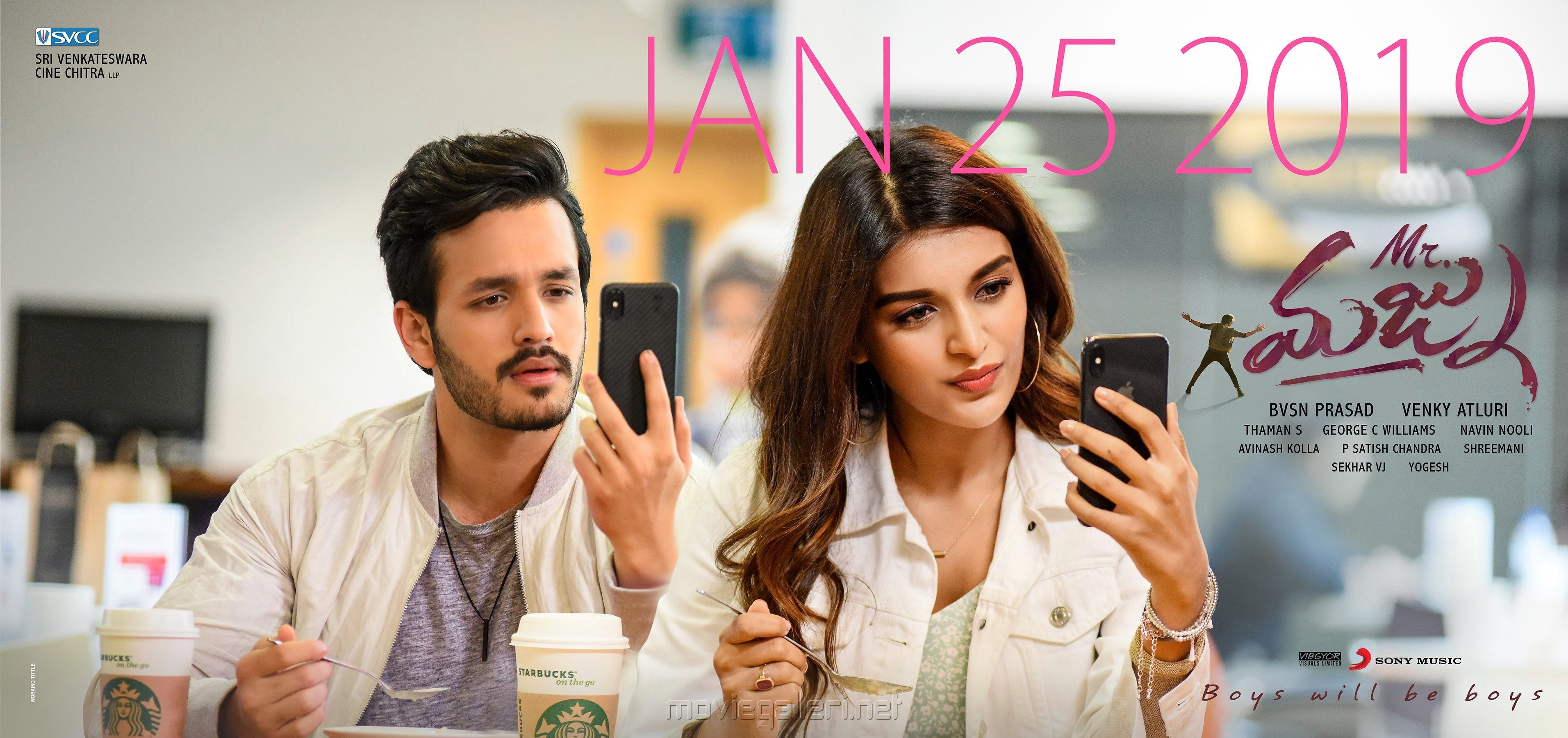 Akhil Akkineni Nidhi Agarwal Mr Majnu Movie Release Date 25th January 2019 Wallpapers HD
