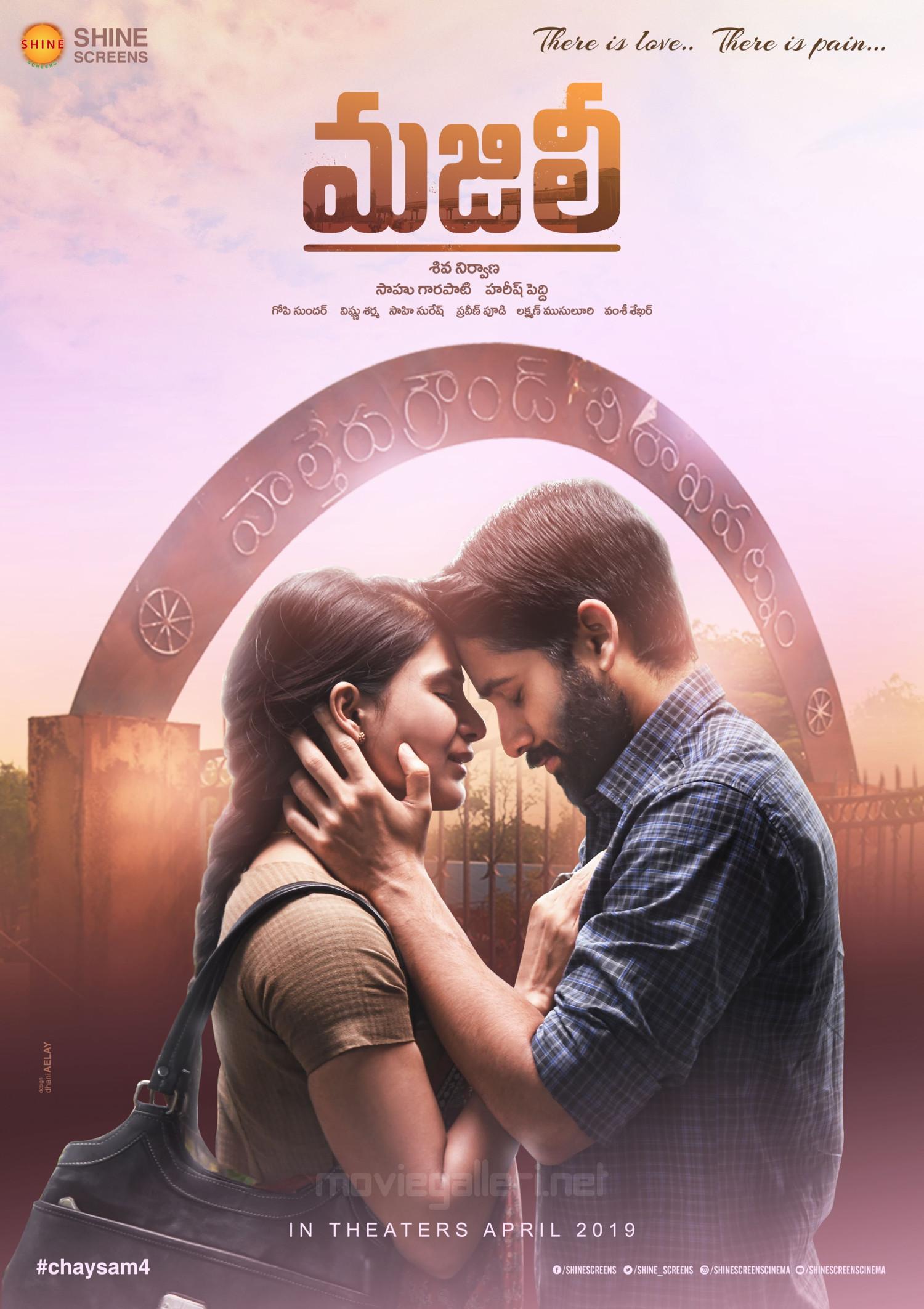 Akkineni Naga Chaitanya Samantha Majili Movie First Look Poster HD