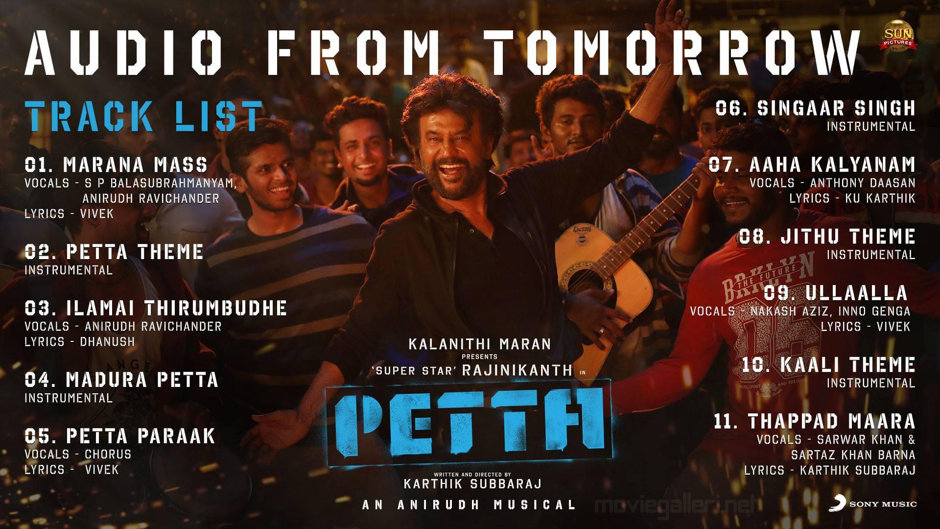 Rajinikanth Petta Audio Release Poster HD