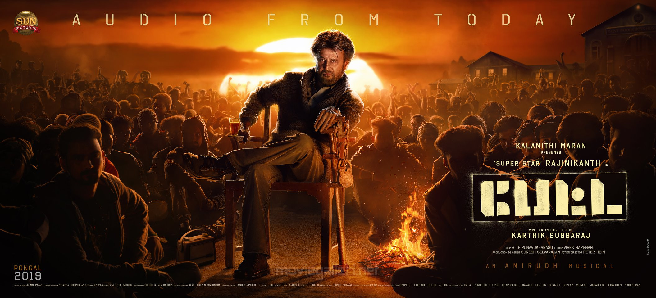 Rajinikanth Petta Audio Release Today Poster HD