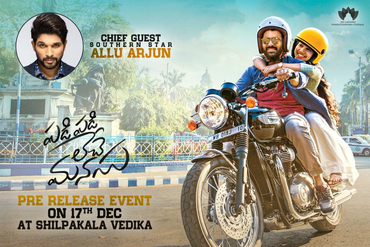 Stylish Star Allu Arjun for Sharwa's 'Padi Padi Leche Manasu' Pre-Release Event