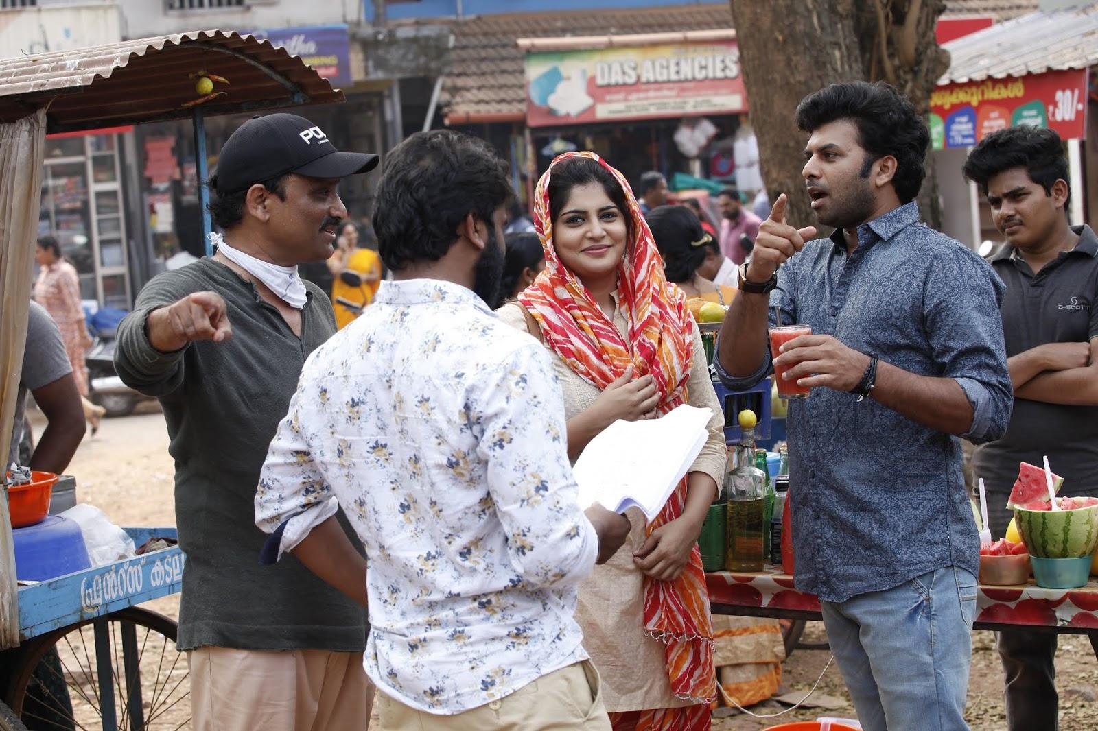 Telugu director Neelakantha with Manjima Mohan in ZAM ZAM shooting