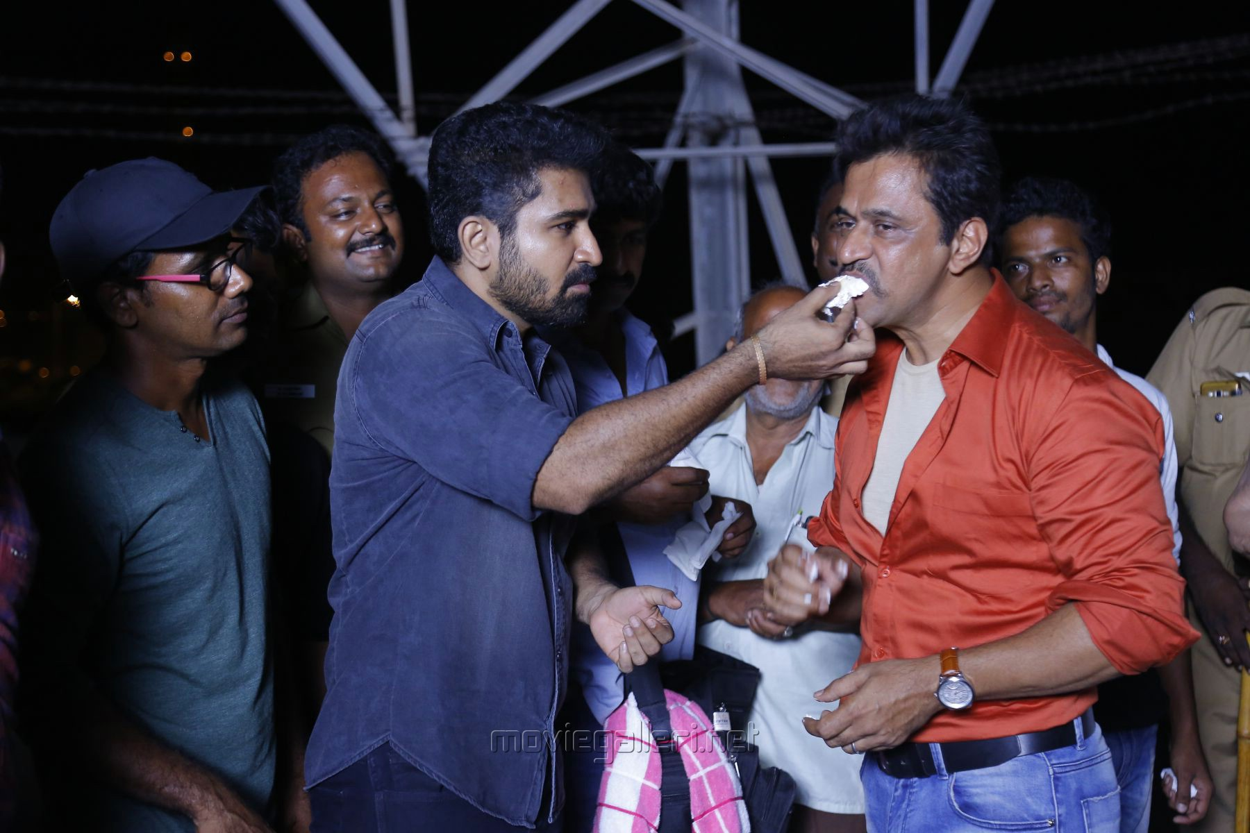 Vijay Antony, Arjun @ Kolaigaran Movie Working Stills