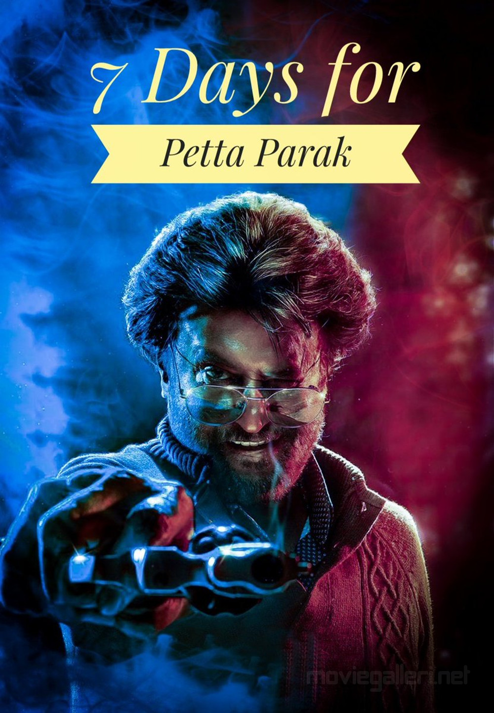7 Days for Petta Parak Rajinikanth Poster