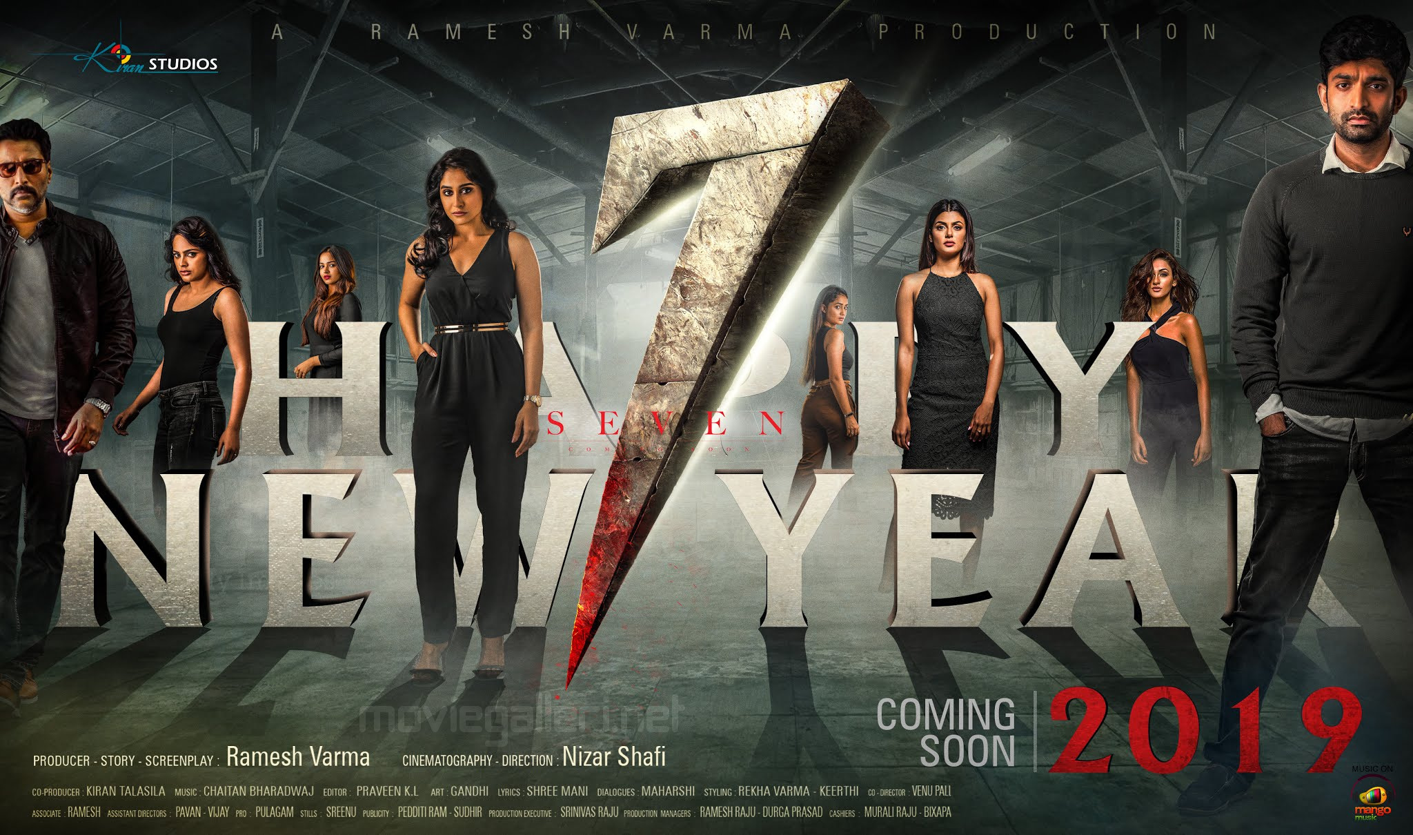 7 Seven Movie New Year 2019 Wishes Wallpaper HD  New Movie Posters