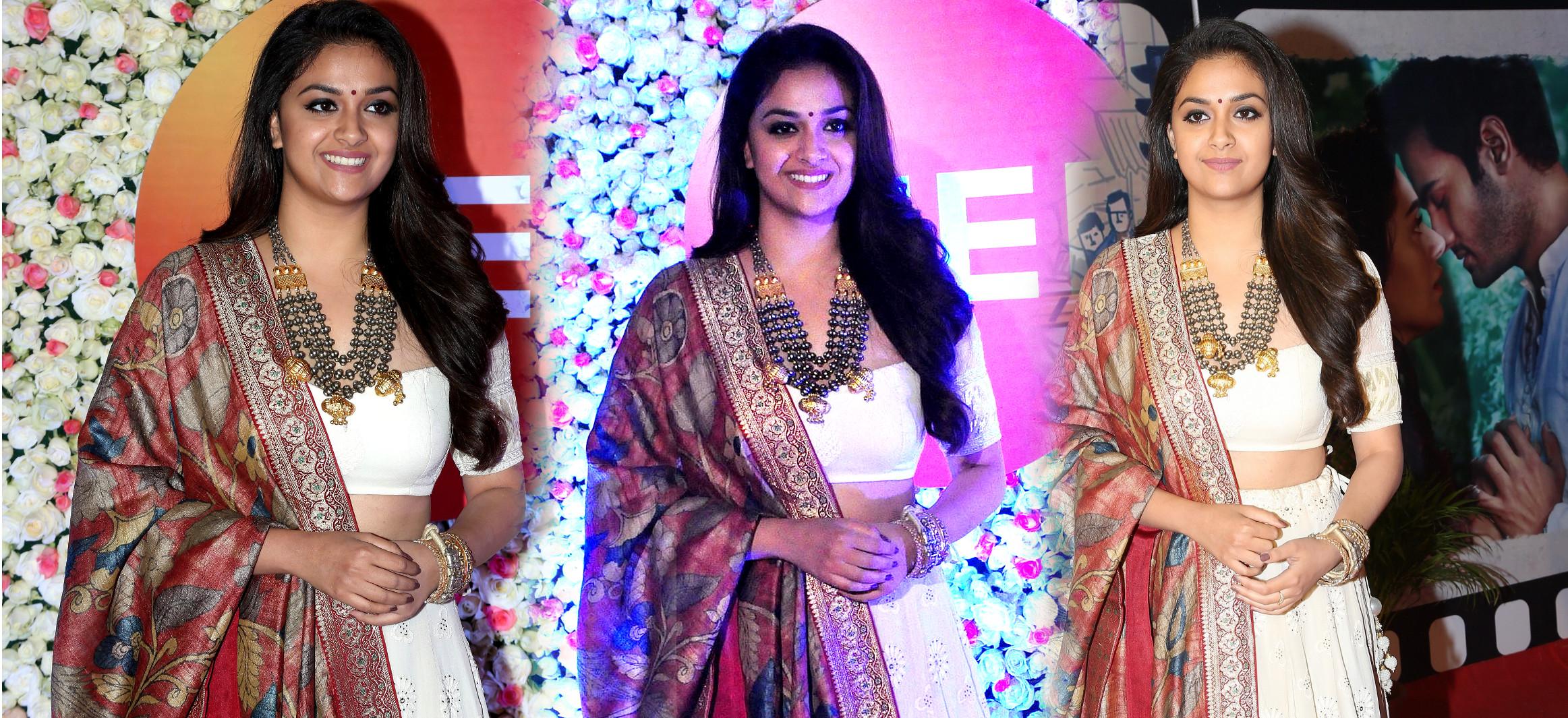 Actress Keerthy Suresh New Pics @ Zee Cine Awards Telugu