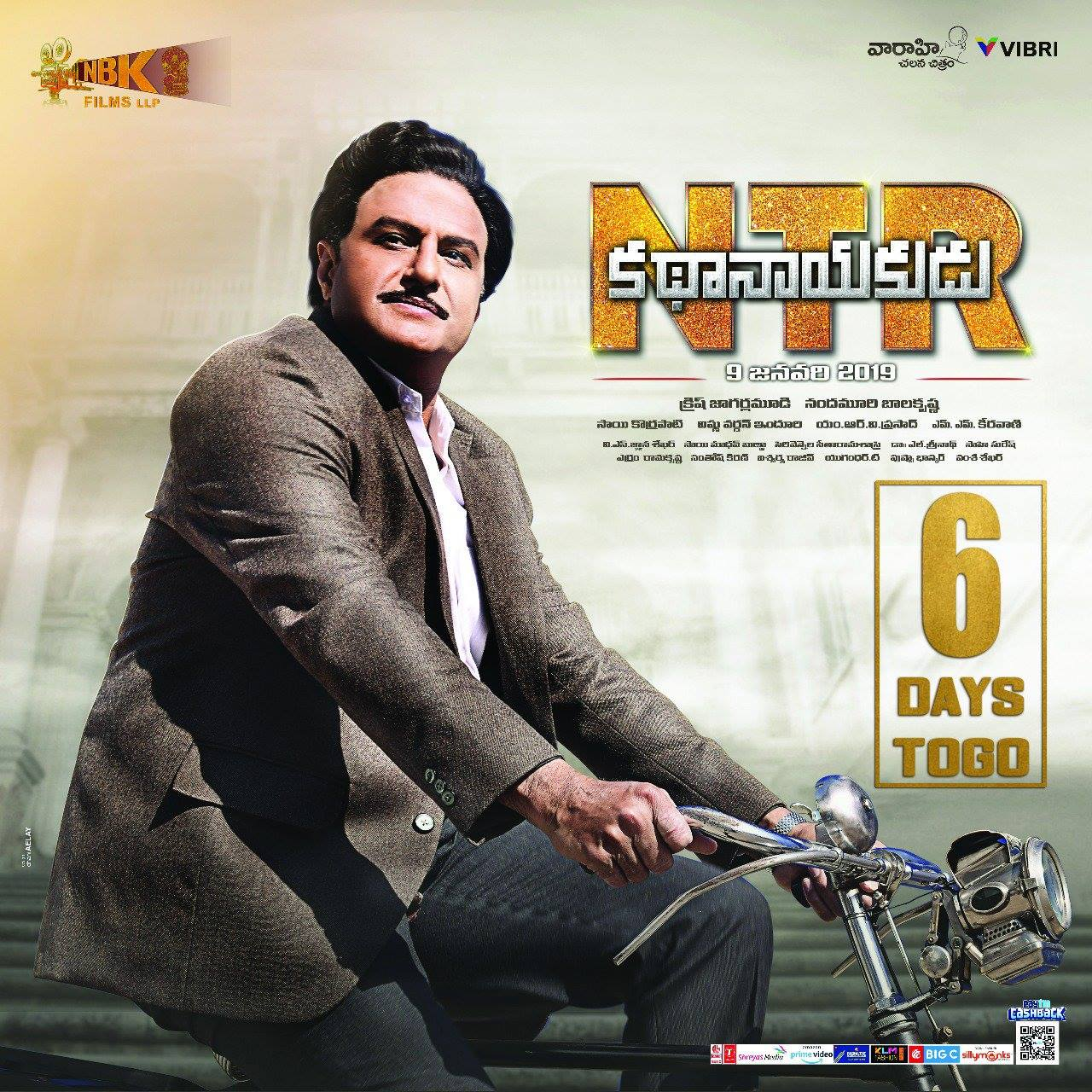 NTR KathaNayakudu 6 days to go Poster