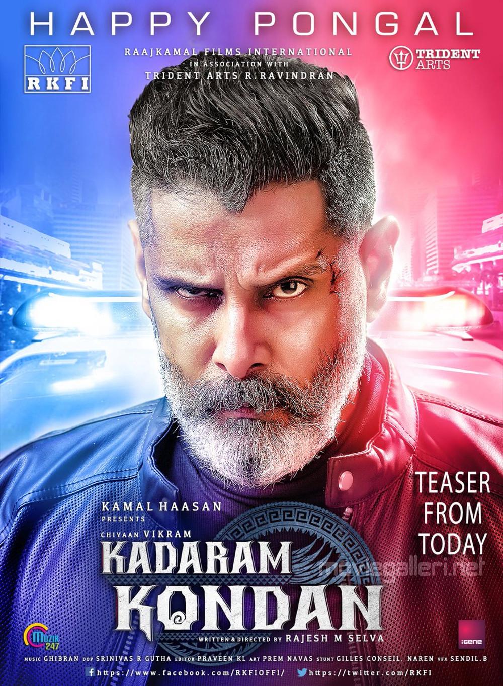 Chiyaan Vikram Kadaram Kondan Movie Teaser from Today Poster HD