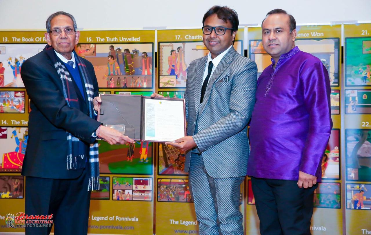 D Imman official ambassador of Canada Tamil Chair
